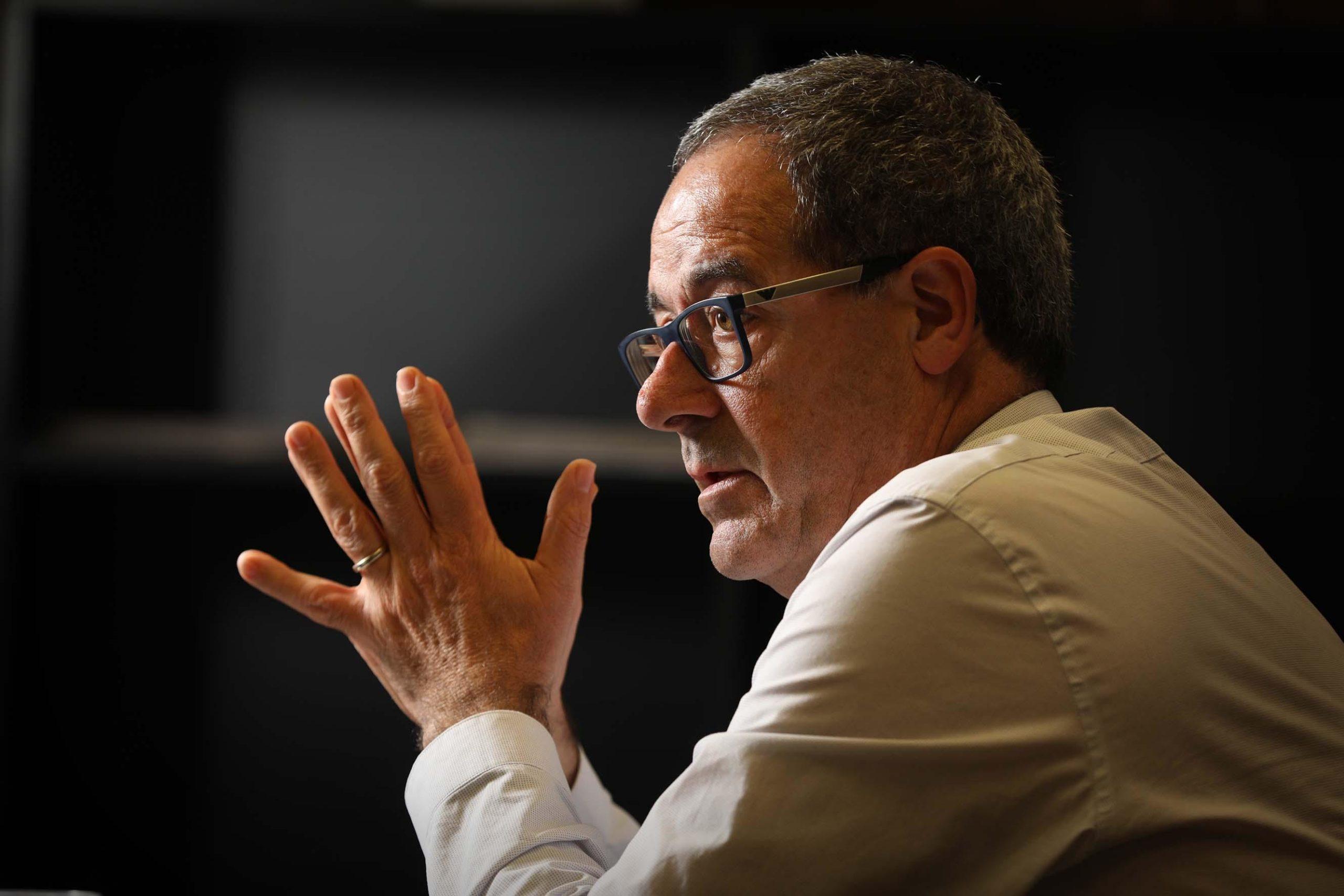 Pere Macias, en la primera entrevista com a coordinador del nou Pla de Rodalies / Jordi Play