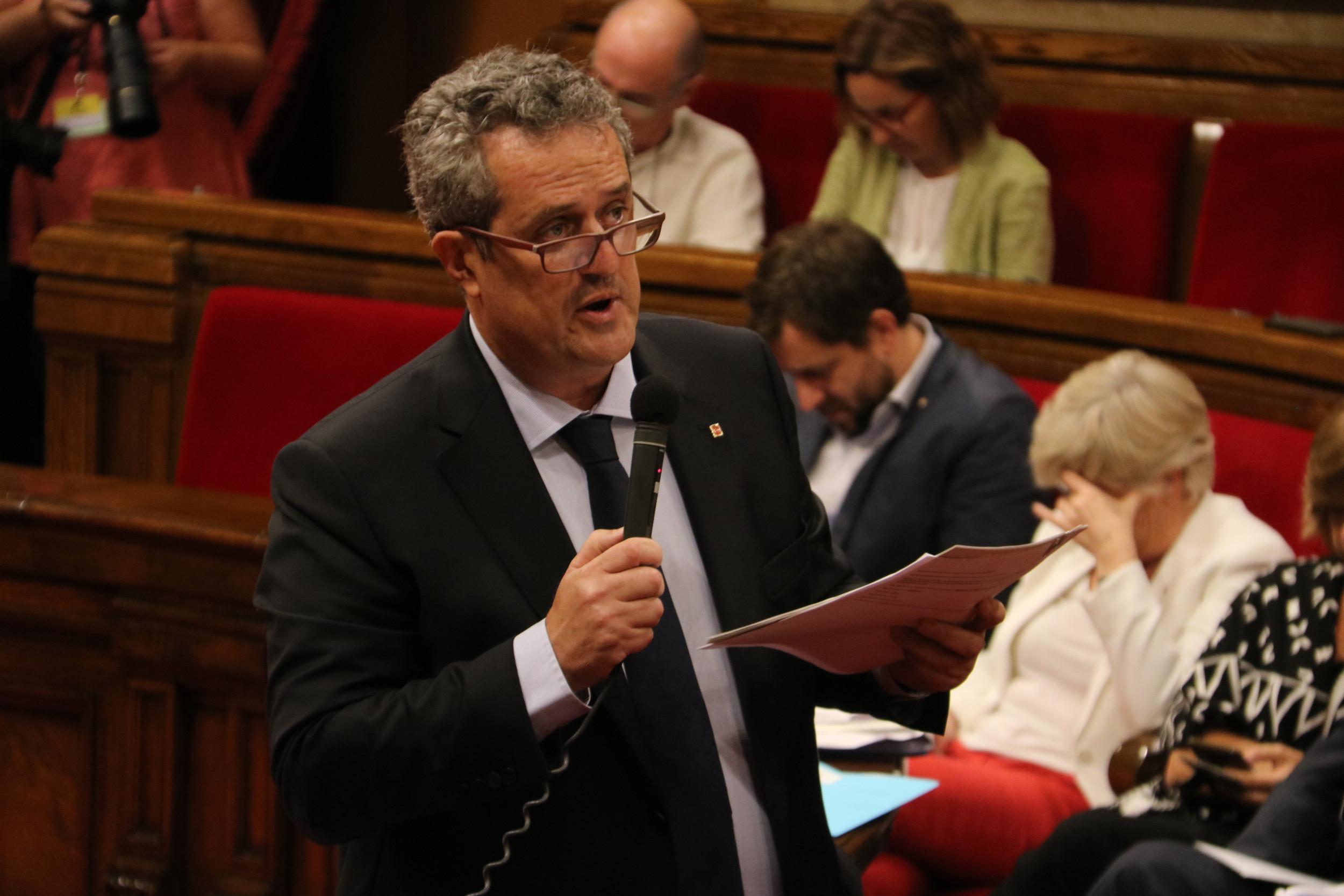 Quim Forn en una intervenció al Parlament el 6 de setembre del 2017 / ACN