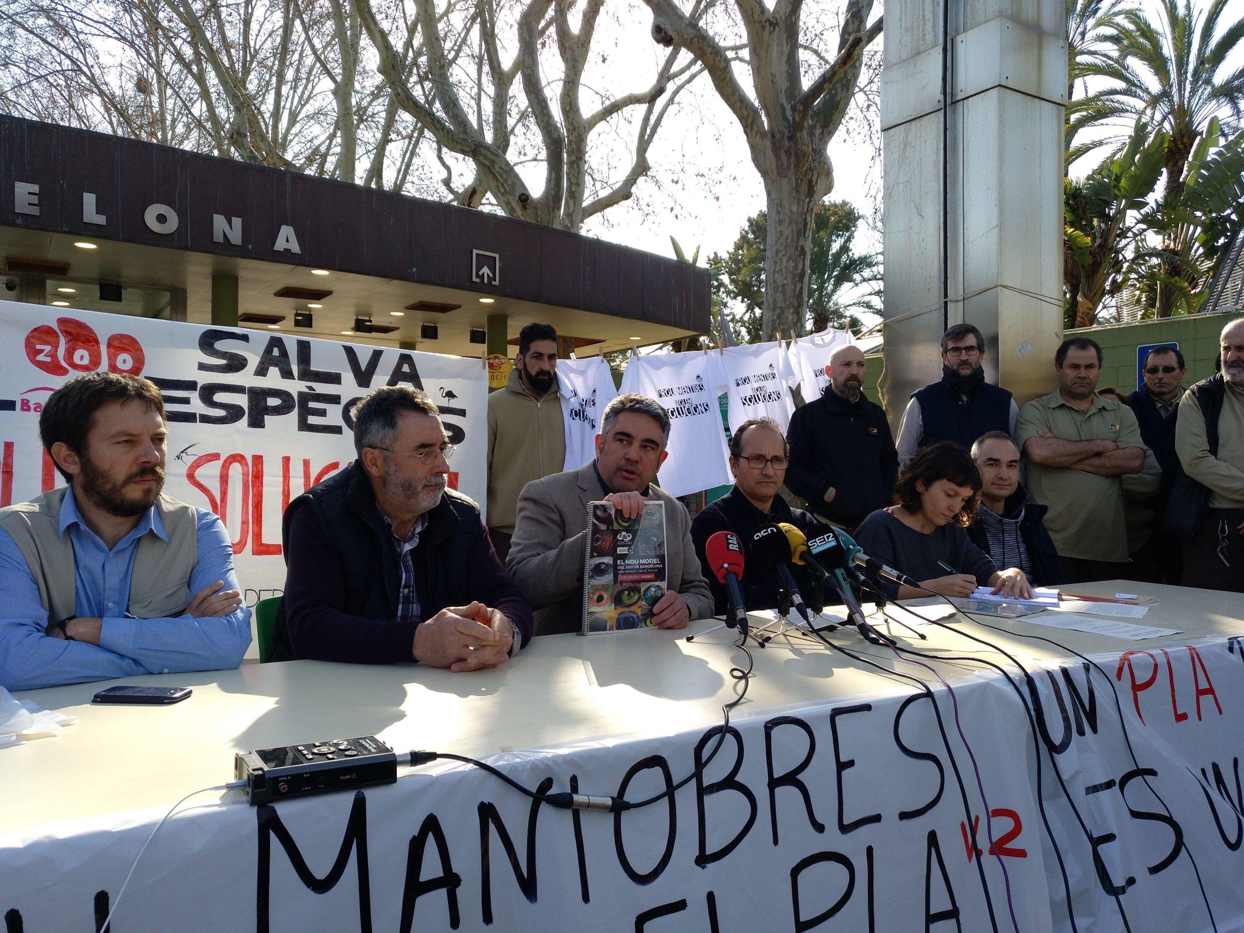 Patrons i treballadors del Zoo, a favor del Pla Estratègic pendent d'aprovació / Meritxell M. Pauné