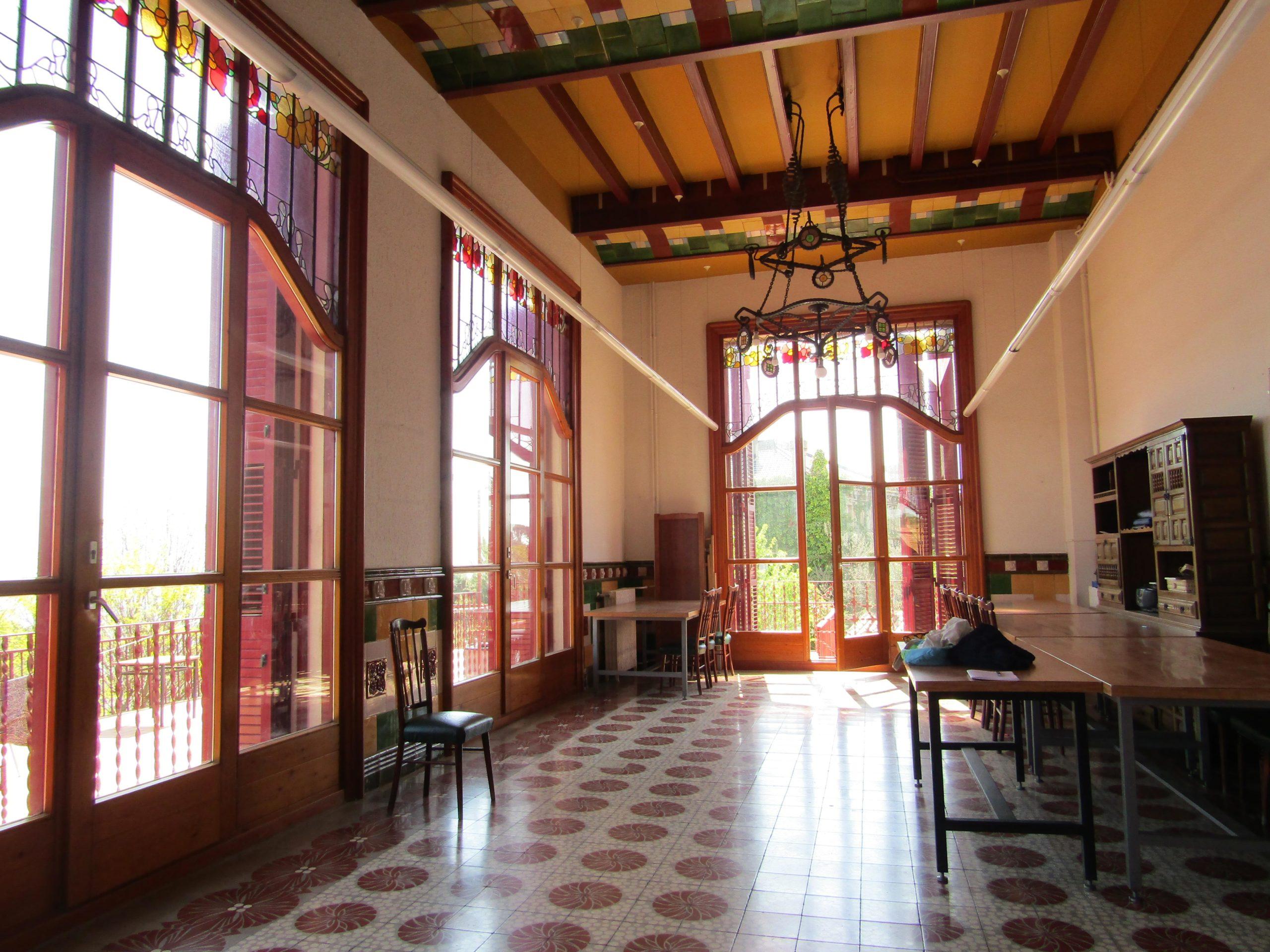 Sala noble de l'antic hotel Buenos Aires de Vallvidrera, en una imatge d'arxiu / Meritxell M. Pauné