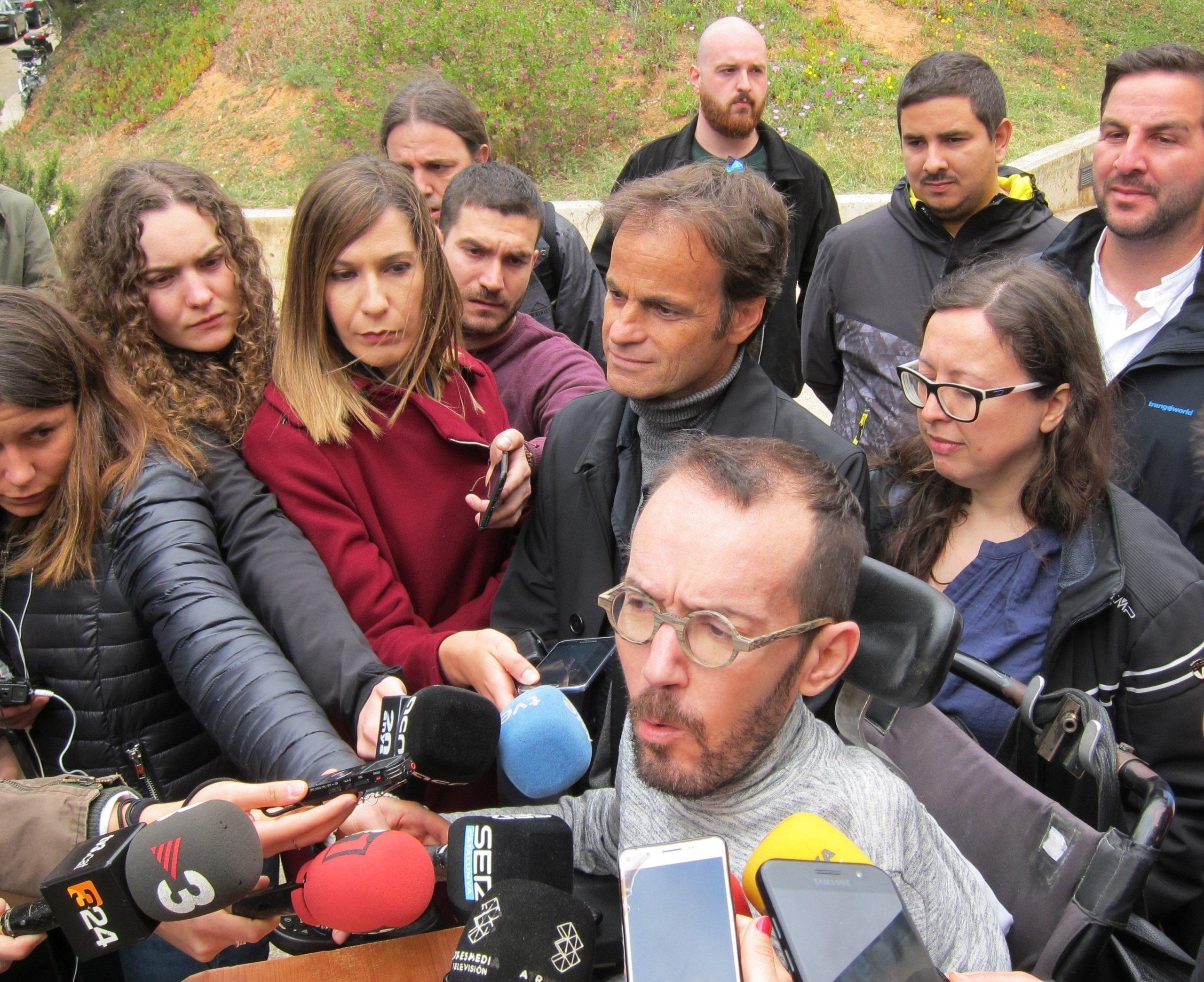 Jaume Asens, i el secretari d'organització de Podemos, Pablo Echenique. | Europa Press