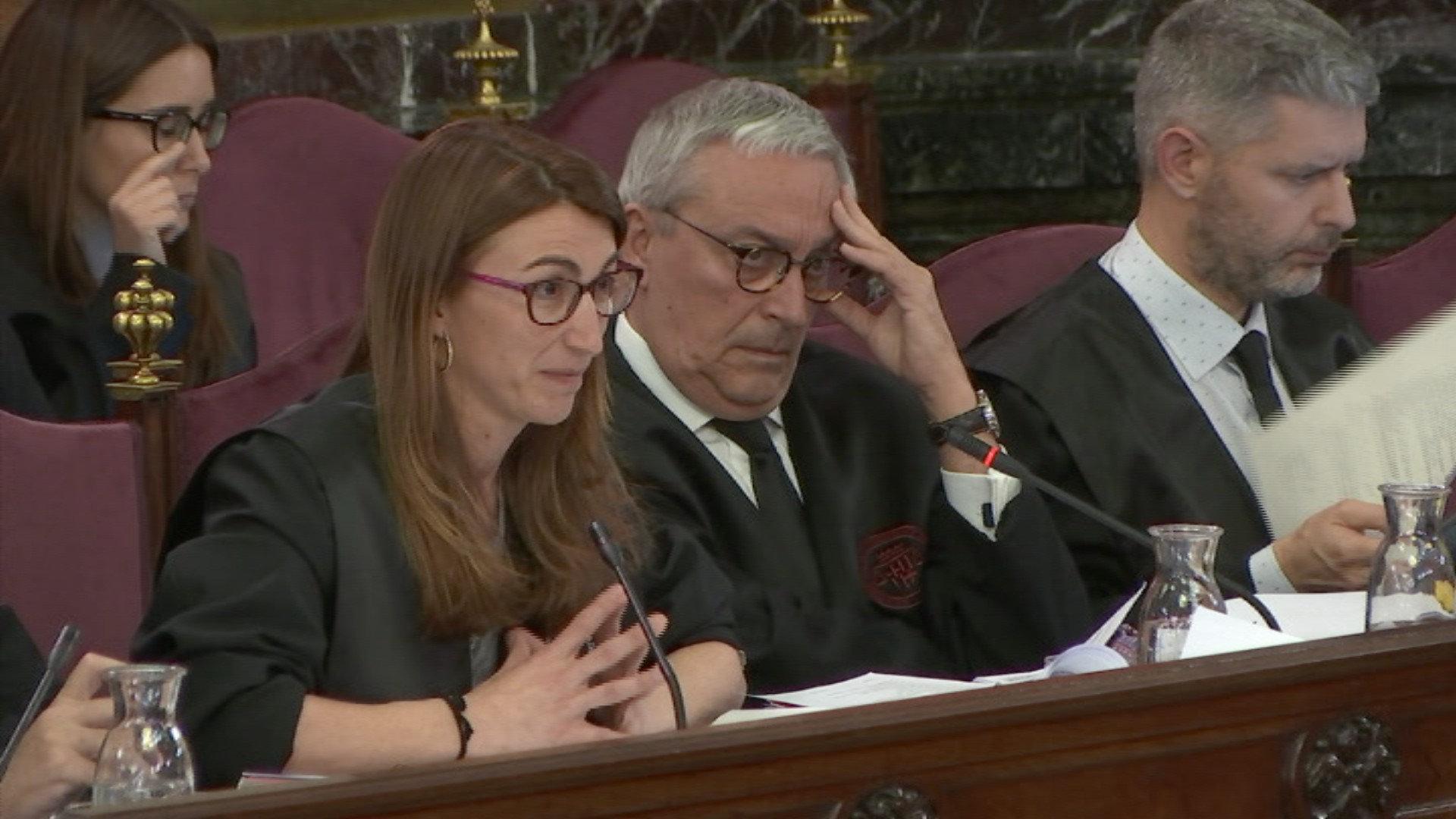 Judit Gené i Javier Melero durant una sessió del judici al Suprem / ACN