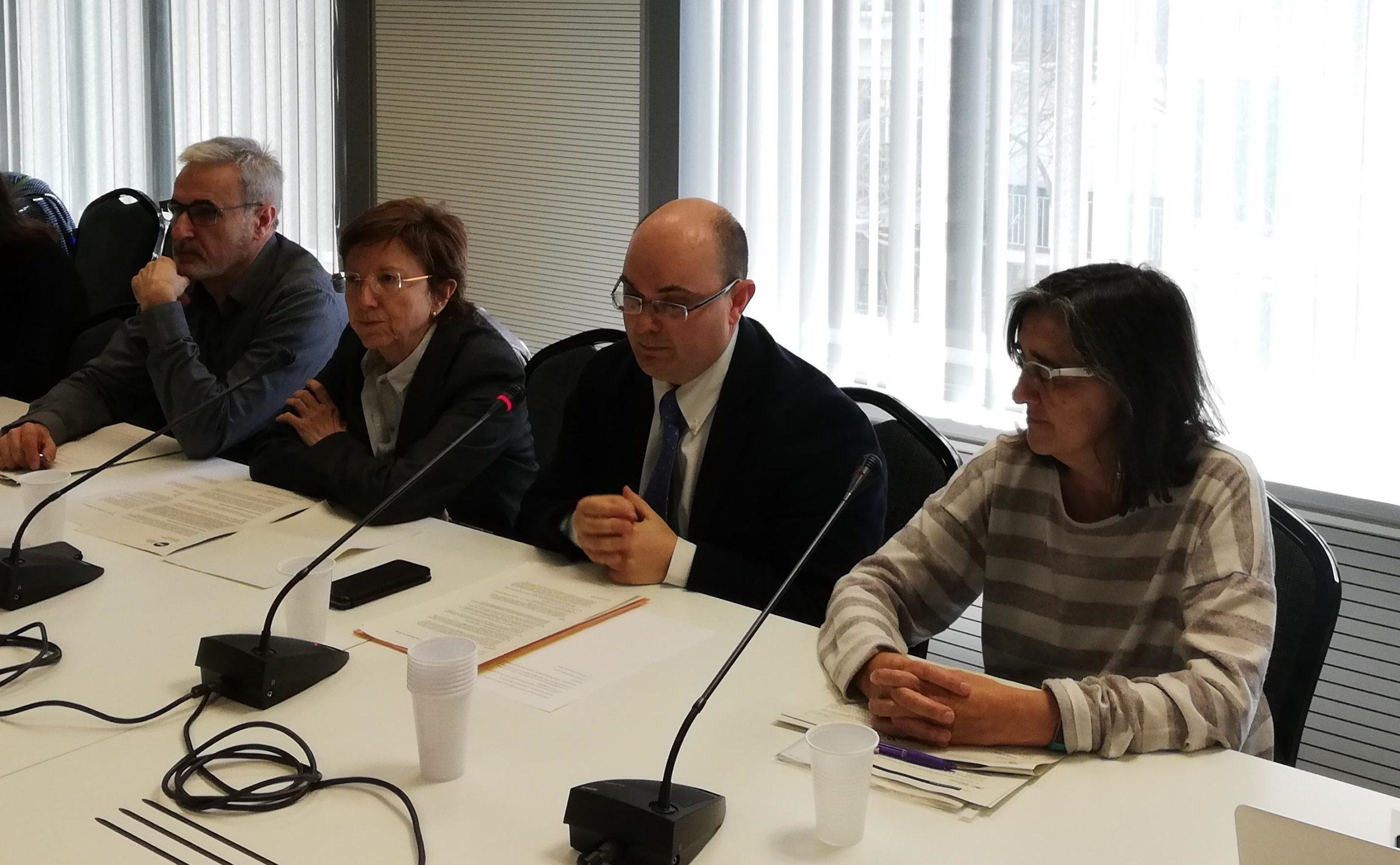 El conseller delegat de TMB, Enric Cañas, a la roda de premsa d'avui. 4-4-2019.  Adrià Lizanda