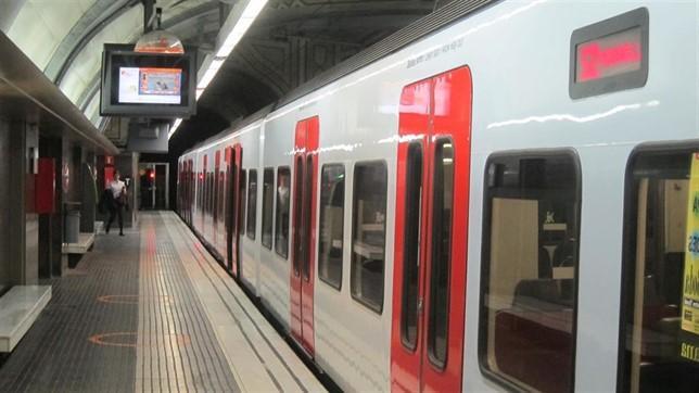 Un tren d'FGC a Plaça Catalunya / Europa Press