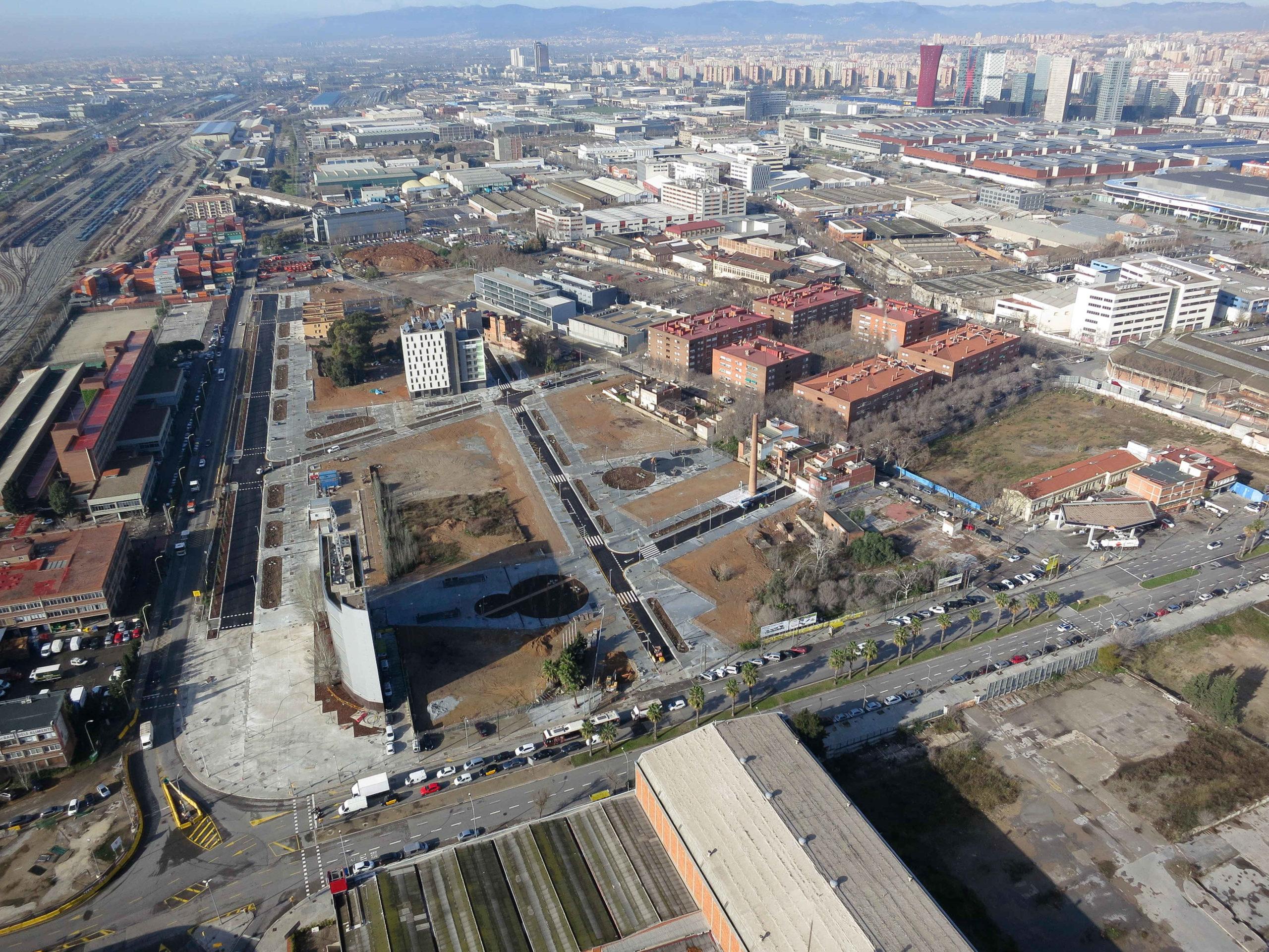 La Marina del Prat Vermell, al districte de Sant-Montjuïc, és una de les zones de Barcelona amb més potencial per construir / CZFB