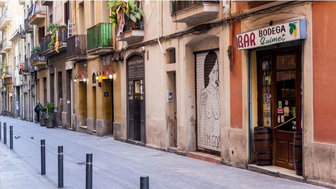 La bodega Quimet, a Gràcia, des del carrer. / Ajuntament