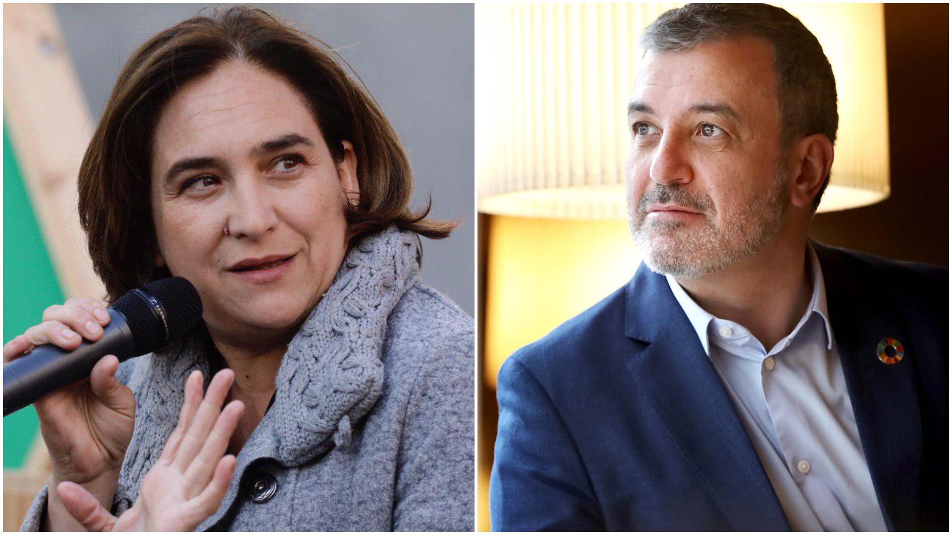 Ada Colau i Jaume Collboni negocien el nou acord de govern / BComú - Jordi Play