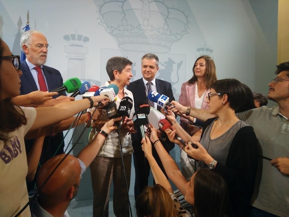 La delegada del govern espanyol a Catalunya, Teresa Cunillera, després de la reunió   Europa Press