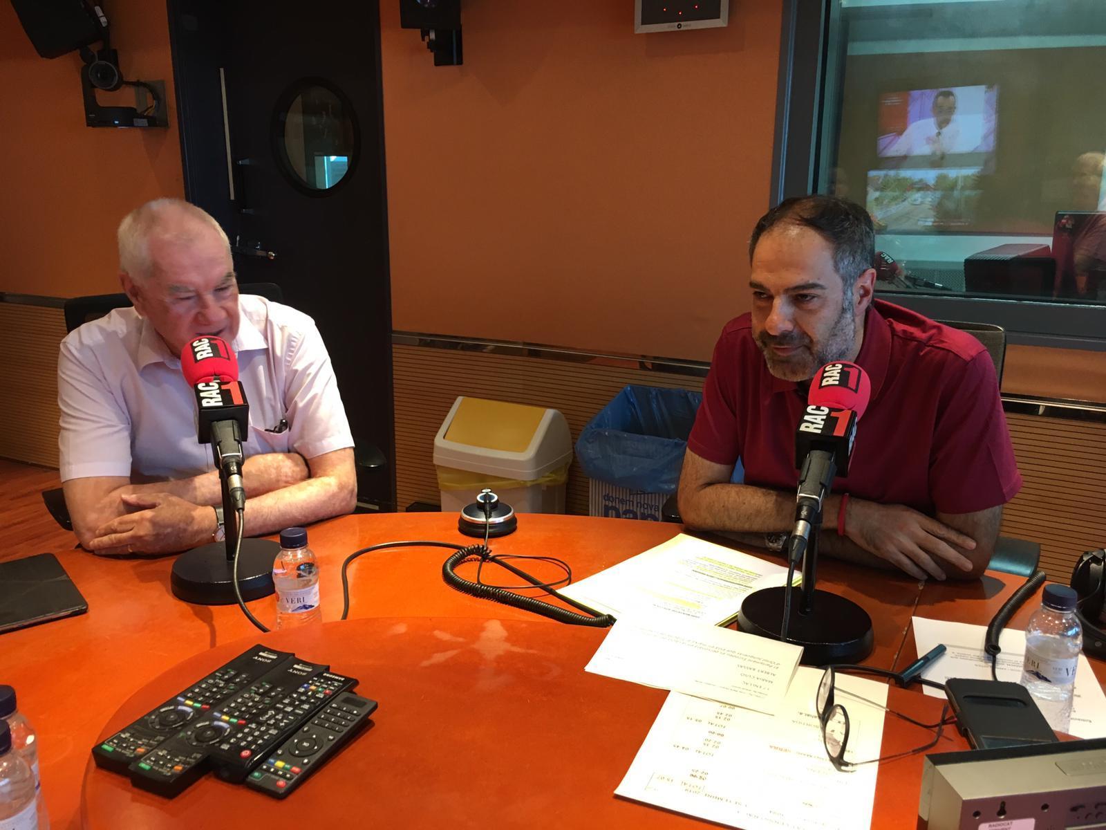 El líder d'ERC, Ernest Maragall, durant l'entrevista a RAC1 / ERC