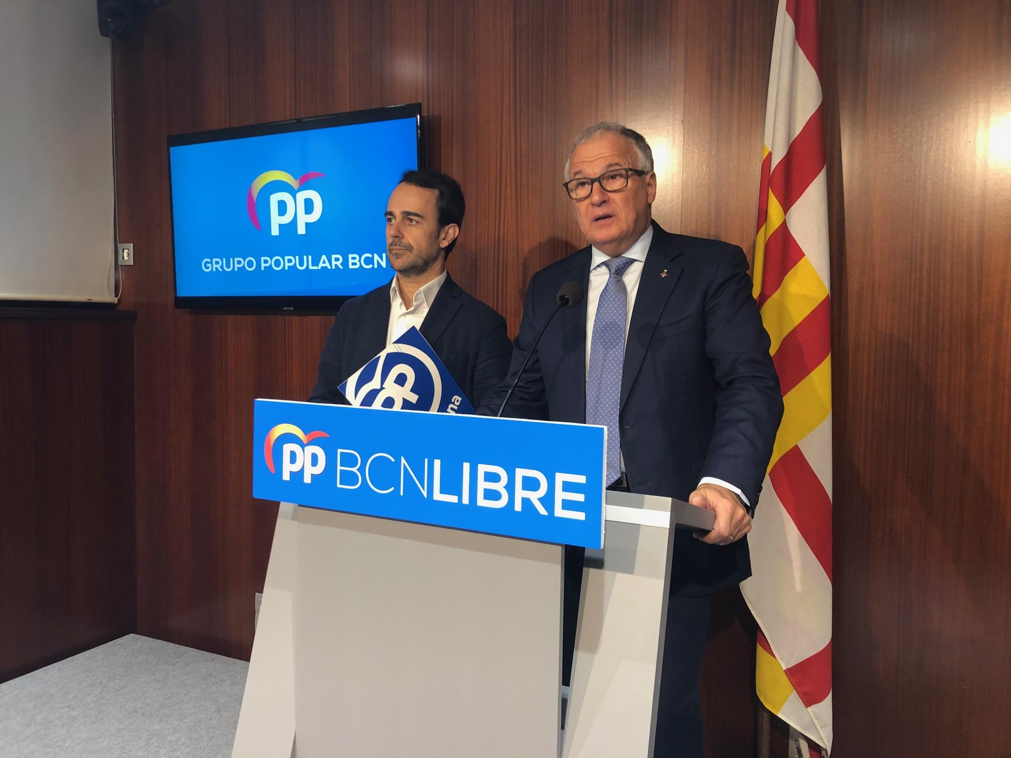Óscar Ramírez i Josep Bou, els dos regidors del PP a Barcelona / PP