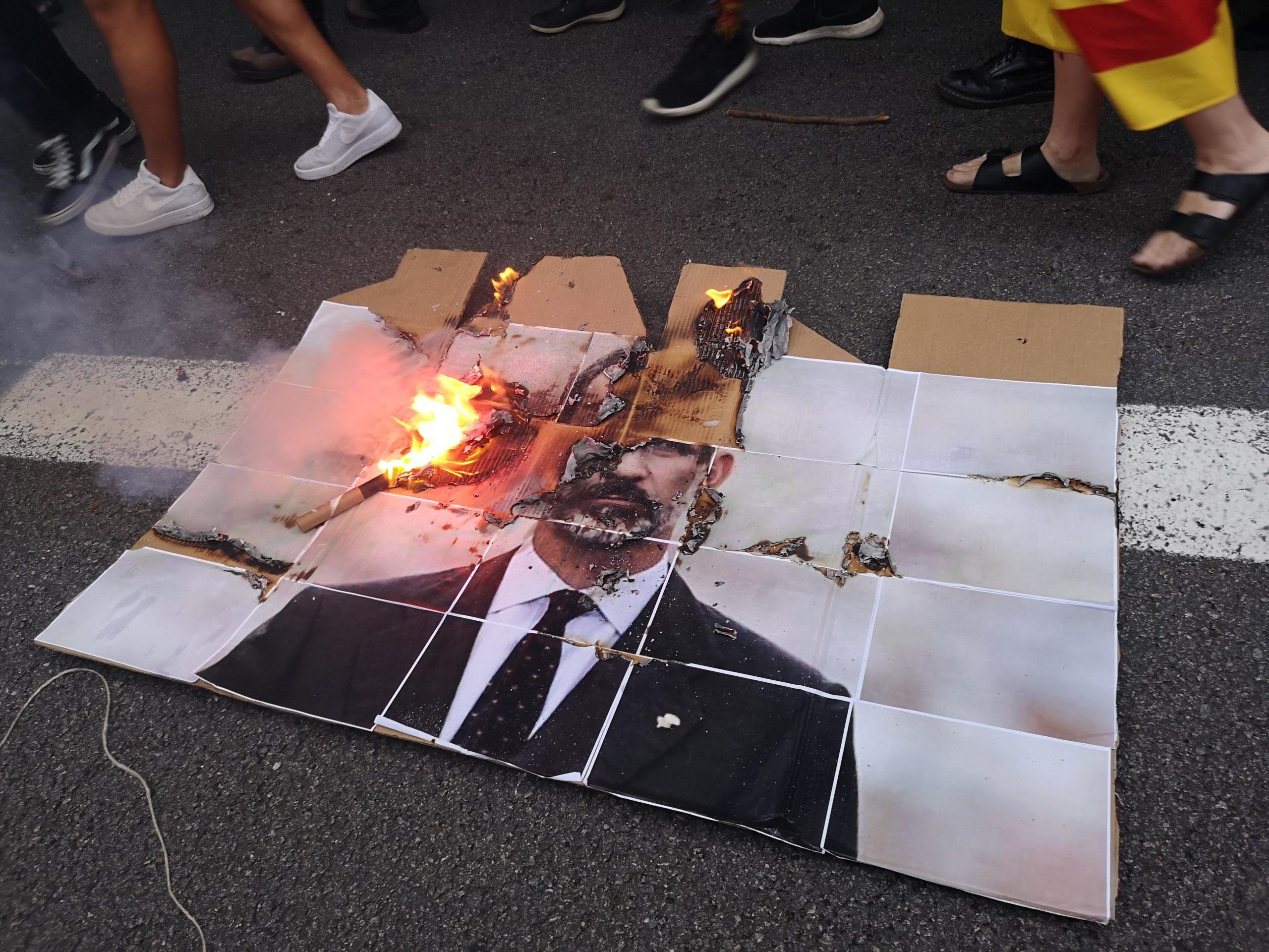 Fotografia de Felip VI cremant a la marxa de l'esquerra independentista / David Cobo