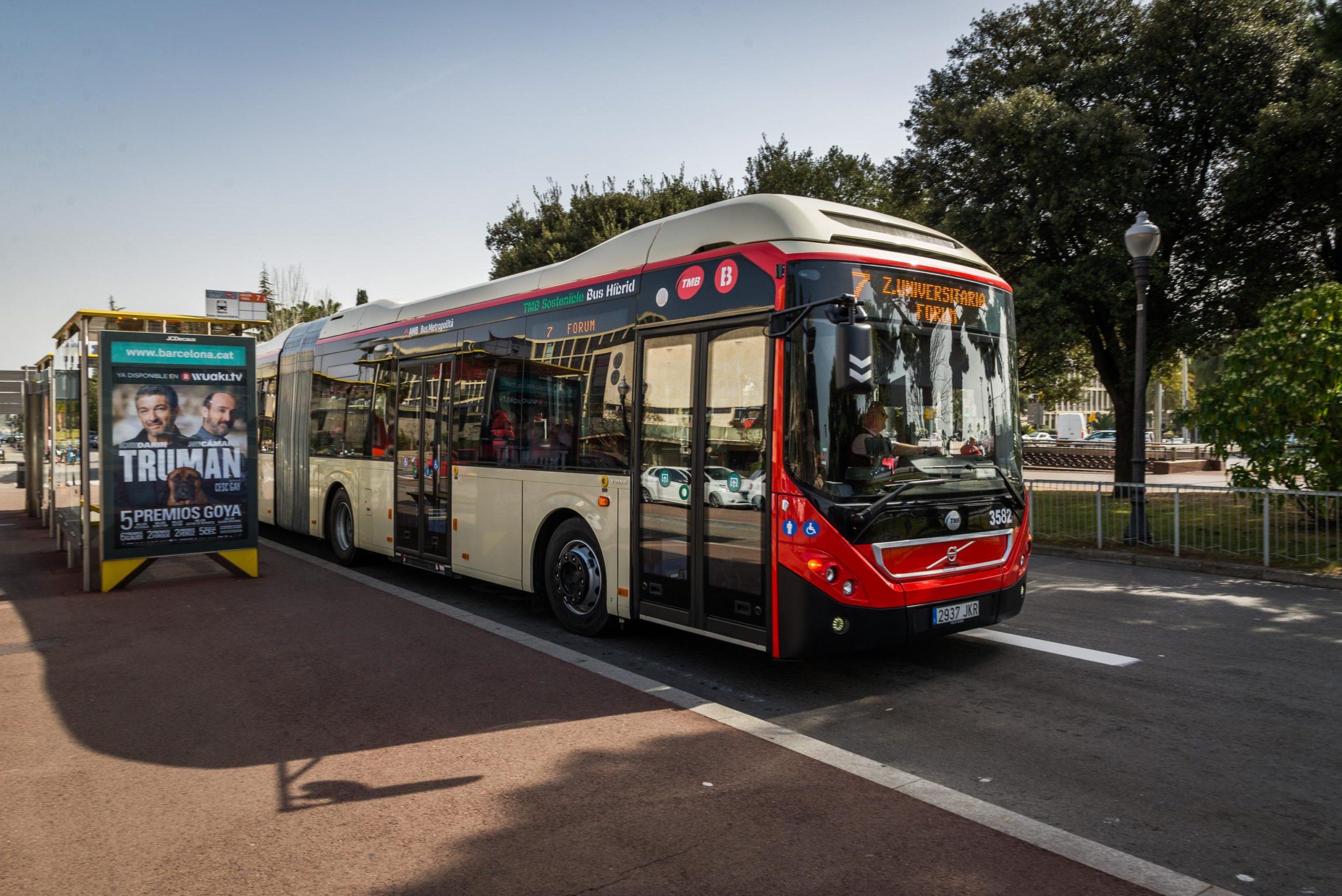 Imatge d'arxiu d'un autobús a Barcelona / TMB