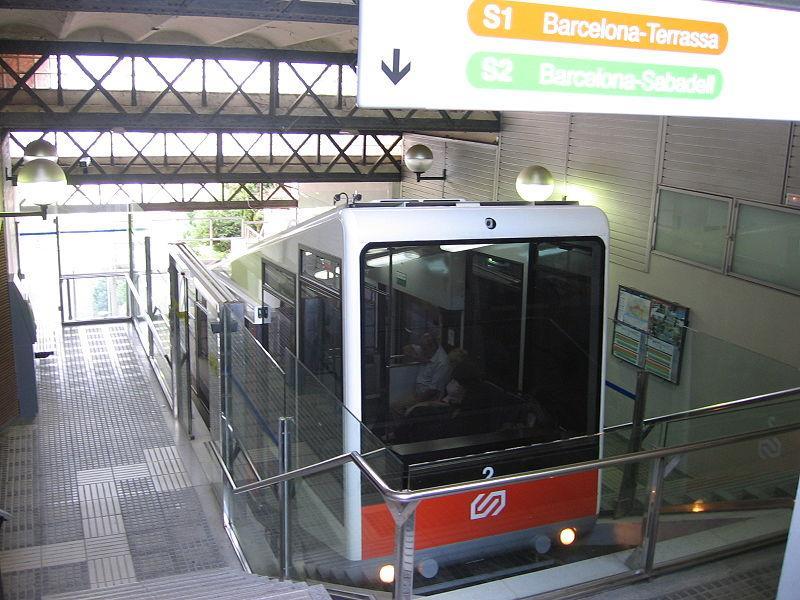 El funicular de Vallvidrera | Matthew McLauchlin (Wikimedia)