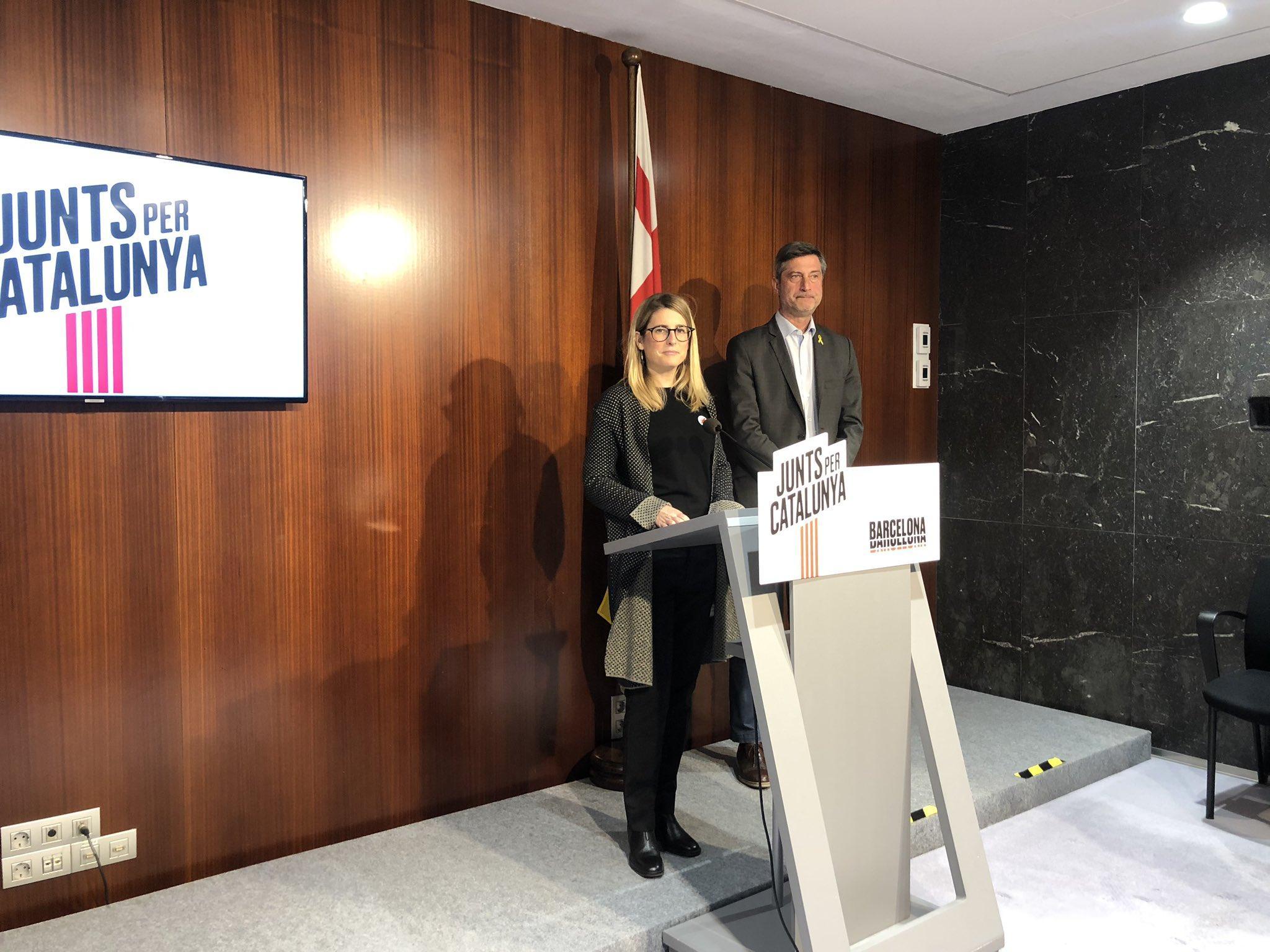 Elsa Artadi i Jordi Martí presenten les iniciatives del Grup de JuntsxCat al Ple de gener