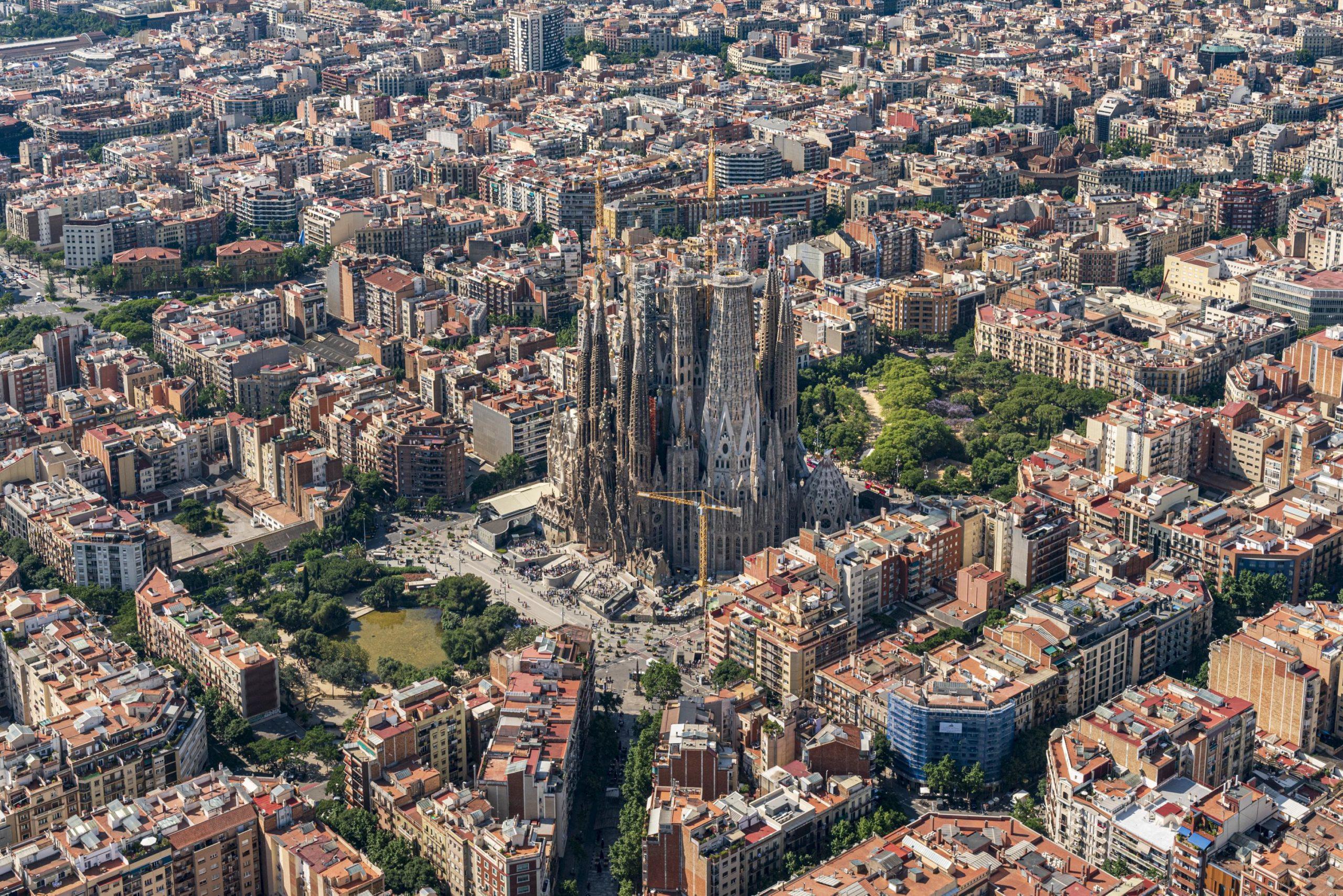 Vista aèria de la Sagrada Família / Cedida