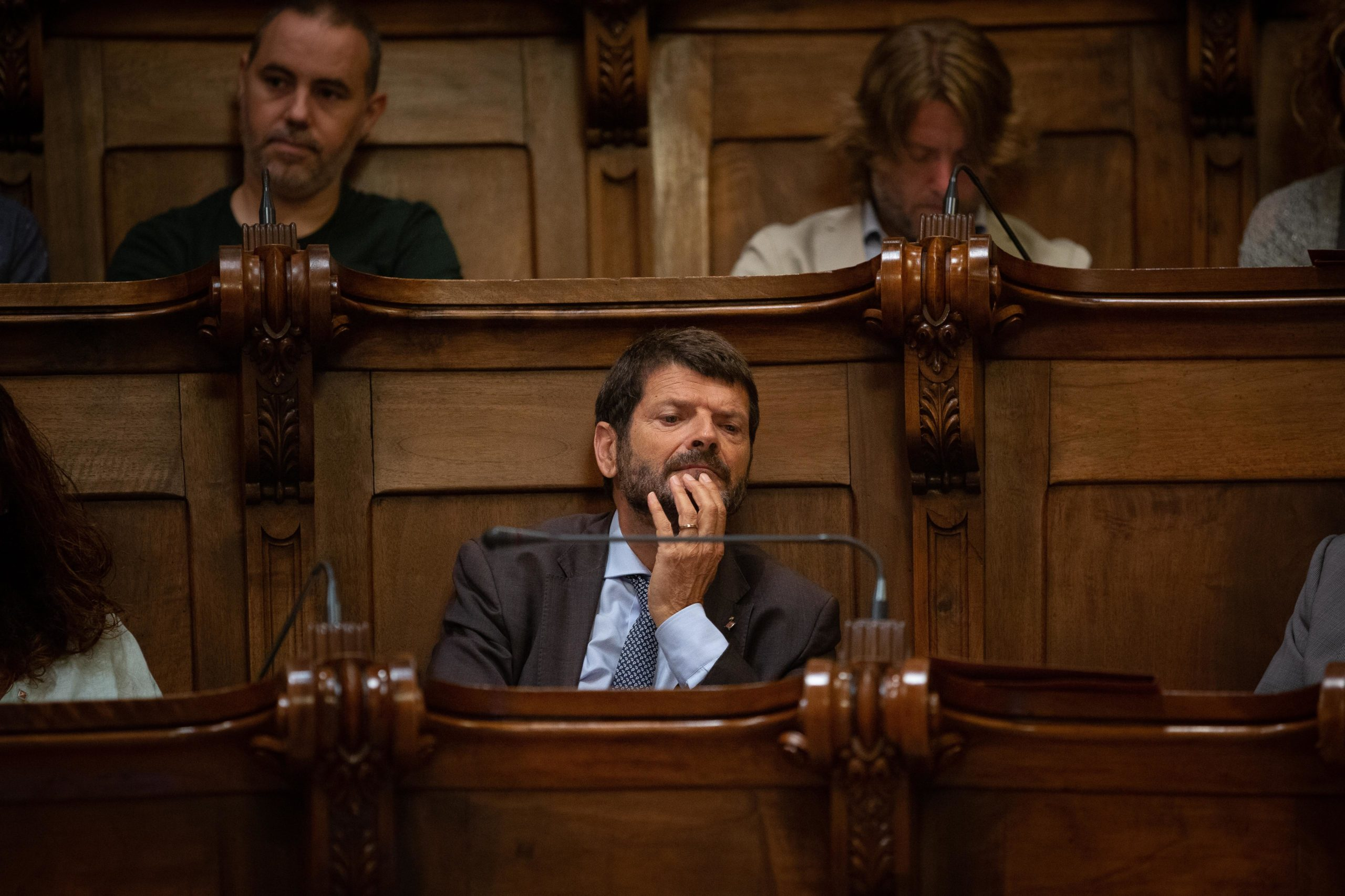 Albert Batlle en una imatge d'arxiu al ple barceloní. / Europa Press (David Zorrakino)