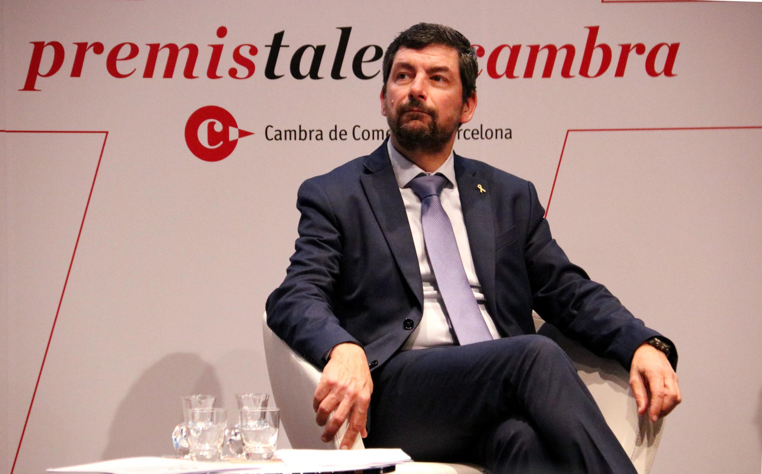 El president de la Cambra de Comerç de Barcelona, Joan Canadell, durant la presentació dels Premis Talent Cambra / ACN - Marta Casado