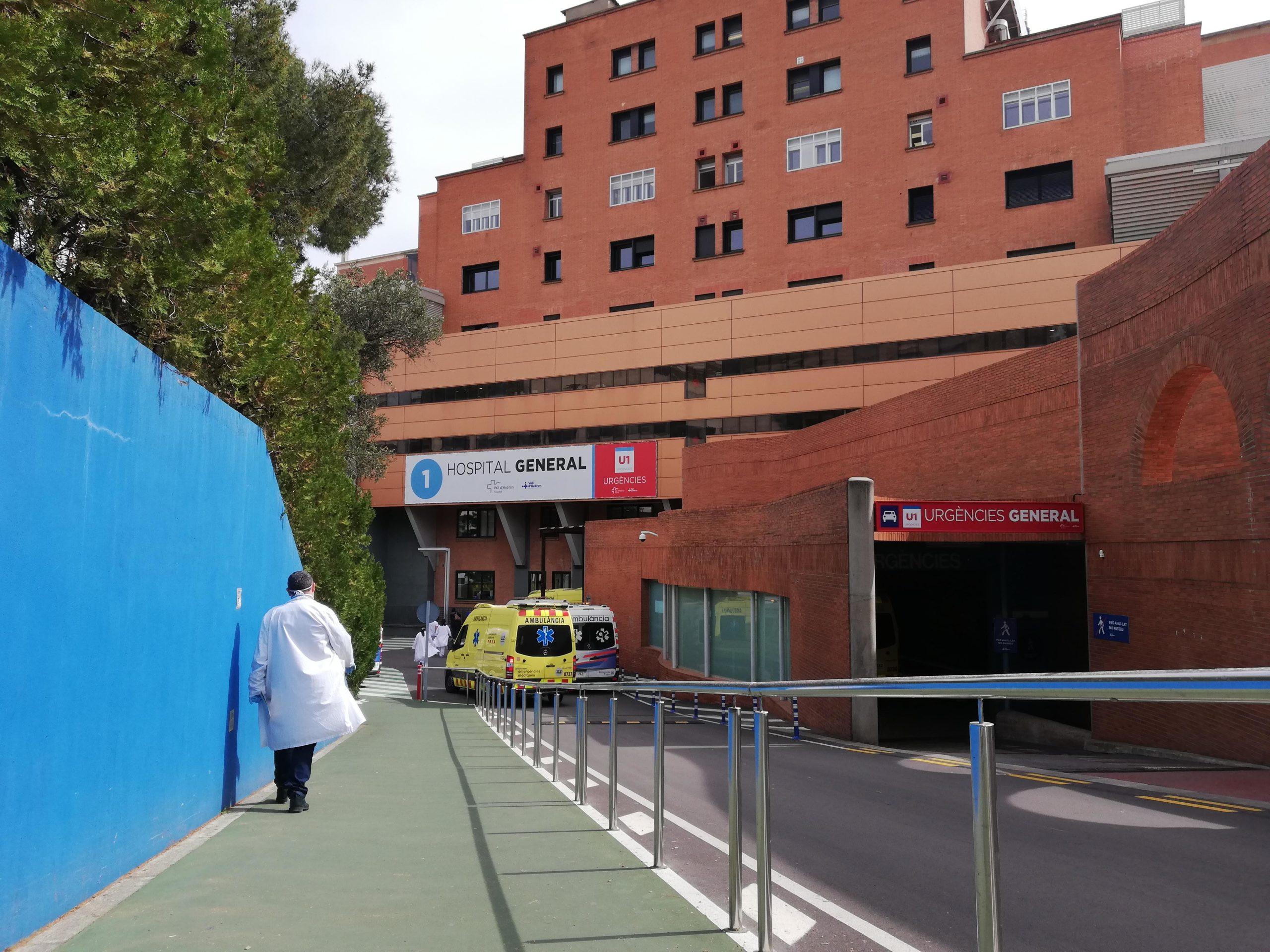 Urgències de l'hospital Vall d'Hebron, on estan ingressats els casos de coronavirus / A. L.
