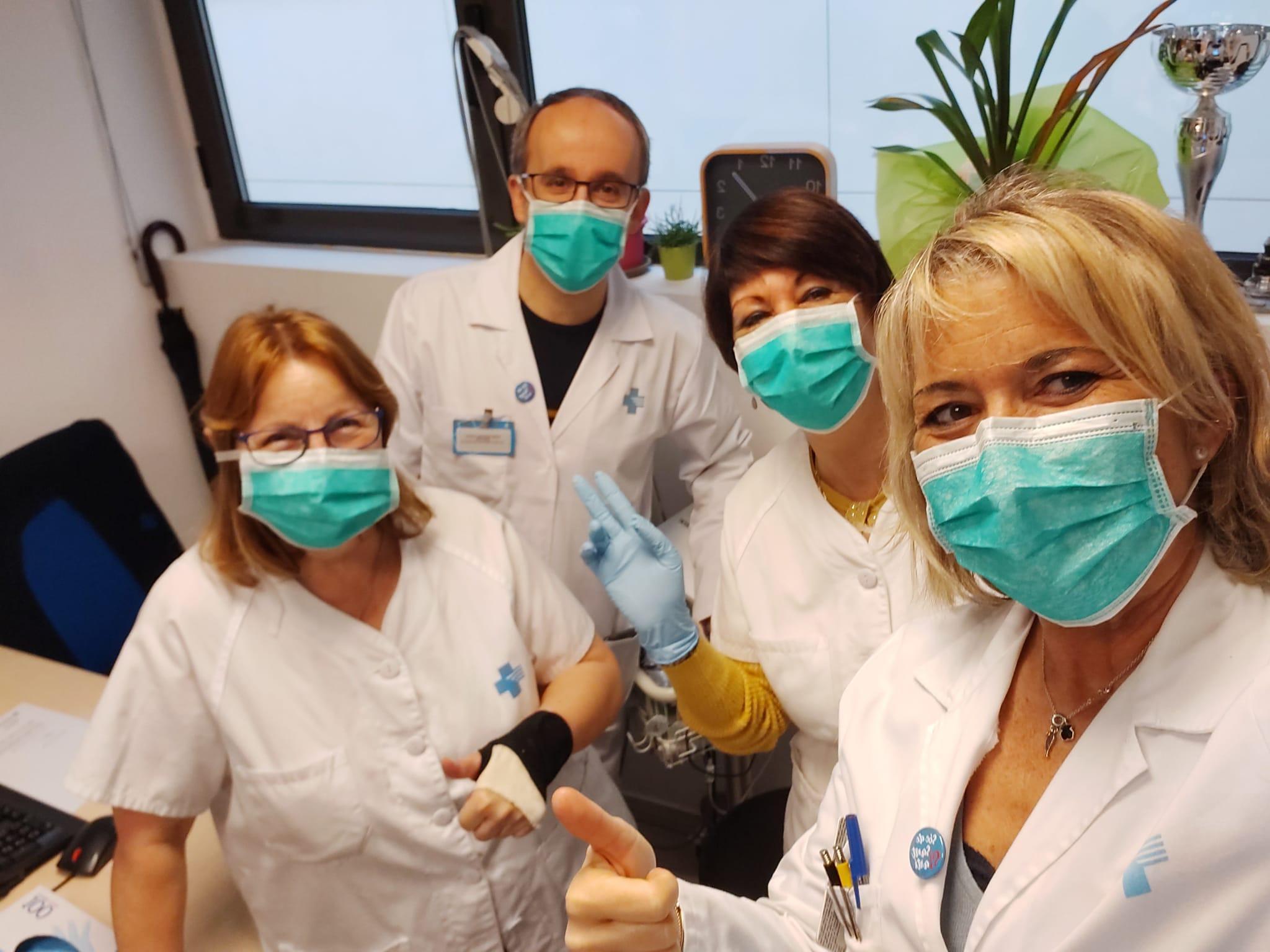 Professionals d'un ambulatori de Barcelona durant la pandèmia de coronavirus / ICS Barcelona