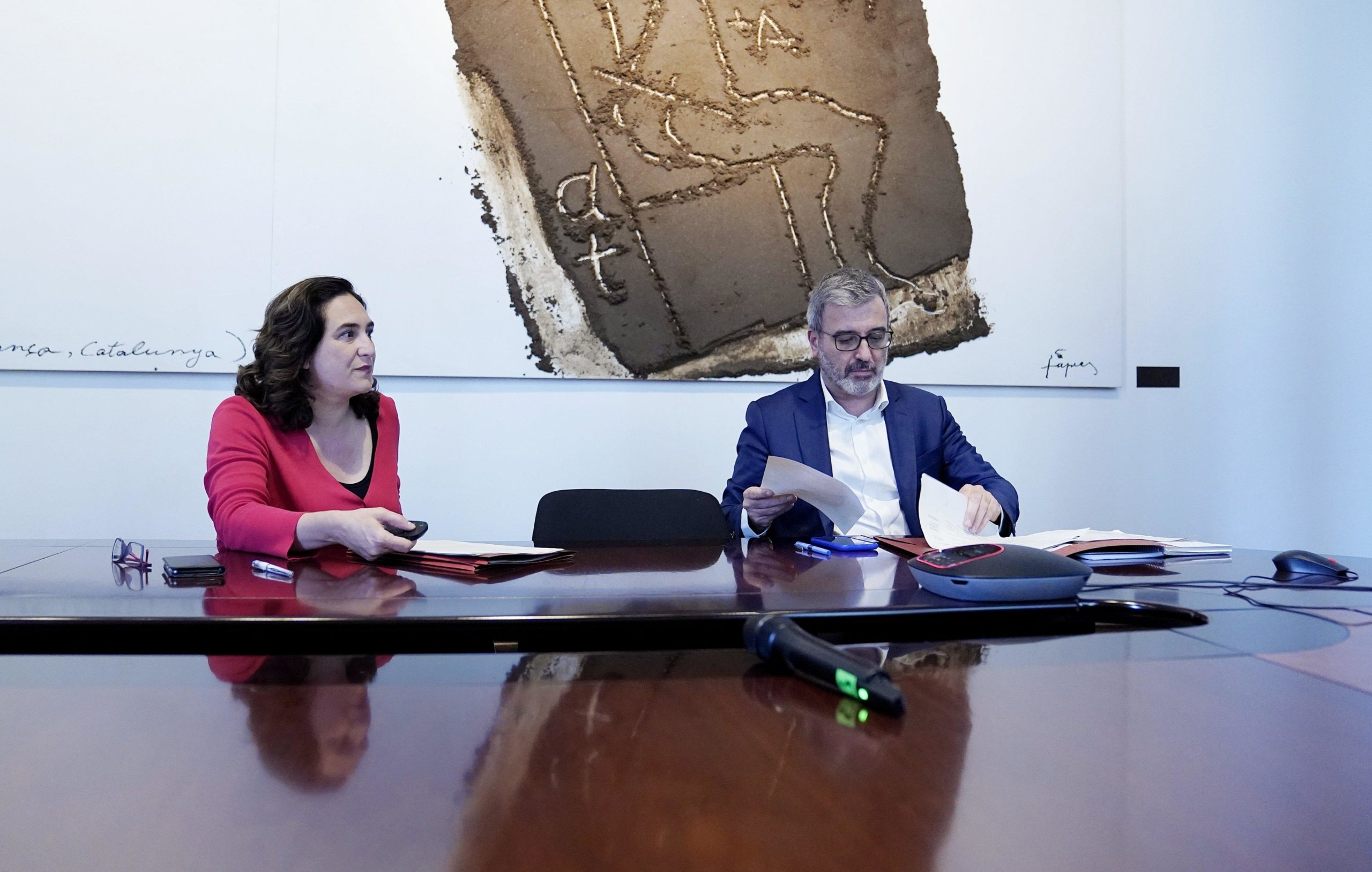 Ada Colau i Jaume Collboni, en la constitució del 'Pacte per Barcelona' / Ajuntament de Barcelona