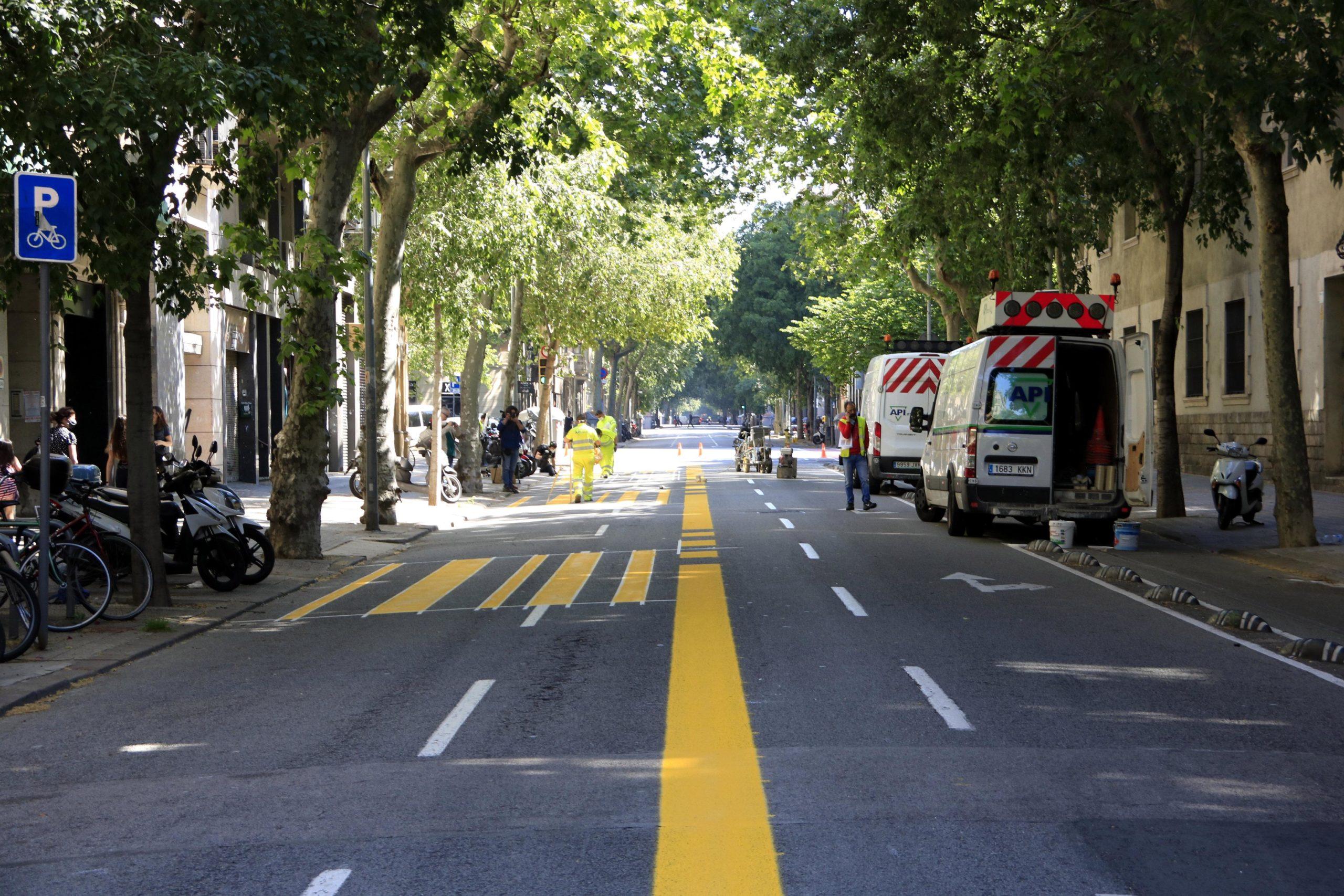El carrer Consell de Cent durant la pacificació per al desconfinament, en imatge d'arxiu / Ajuntament