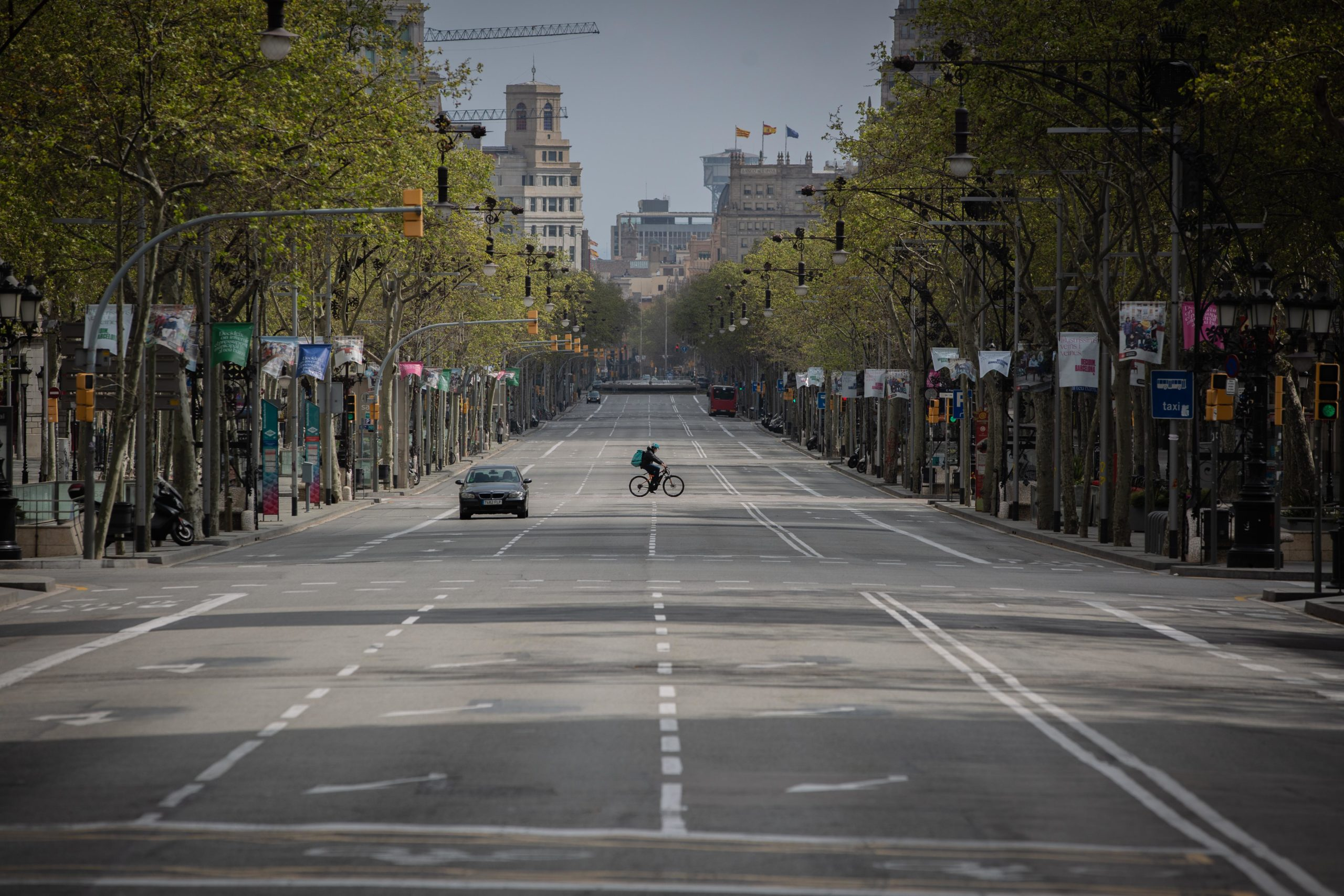 Passeig de Gràcia desert en ple confinament / Europa Press (David Zorrakino)