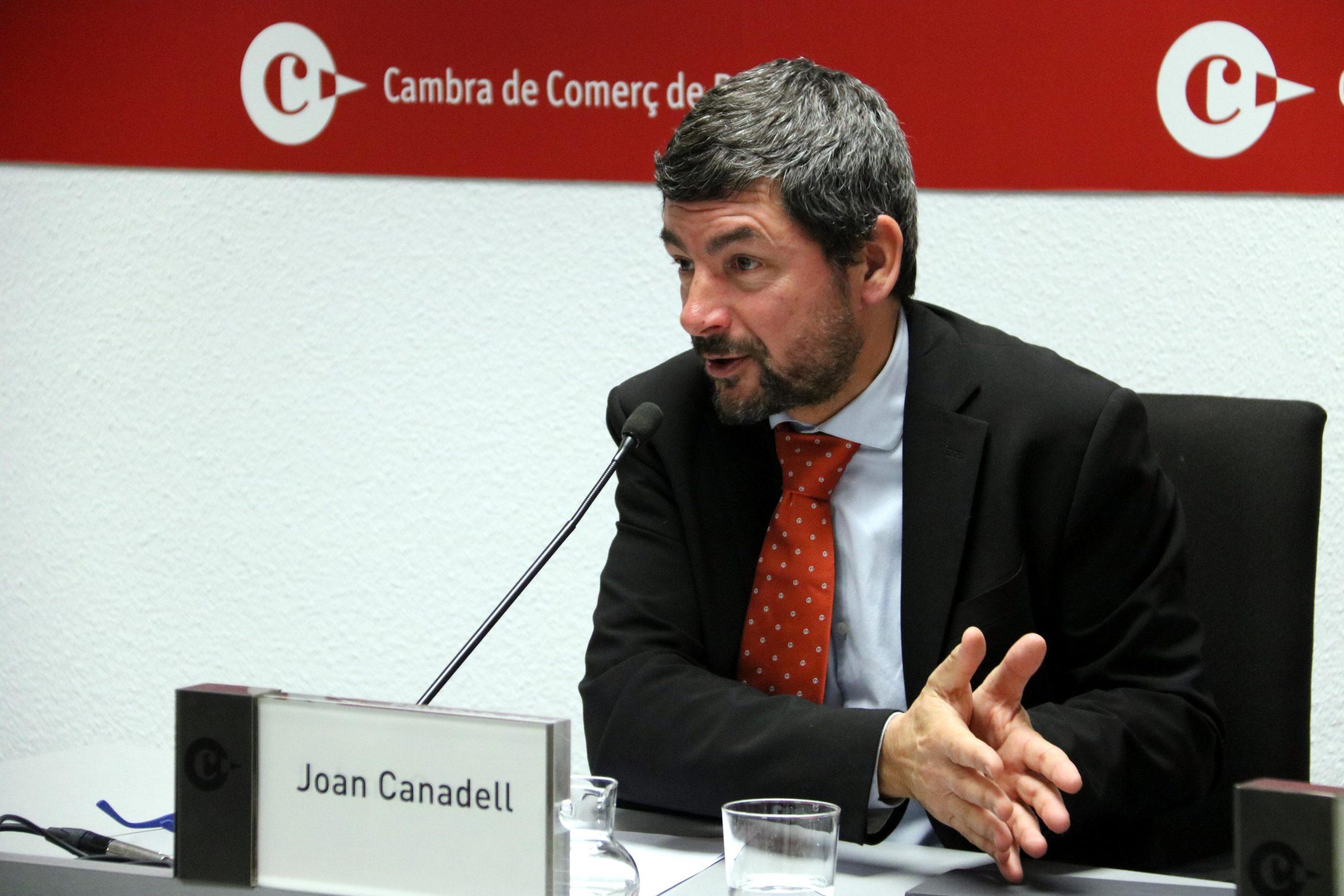 El president de la Cambra de Comerç, Joan Canadell, durant una roda de premsa / ACN