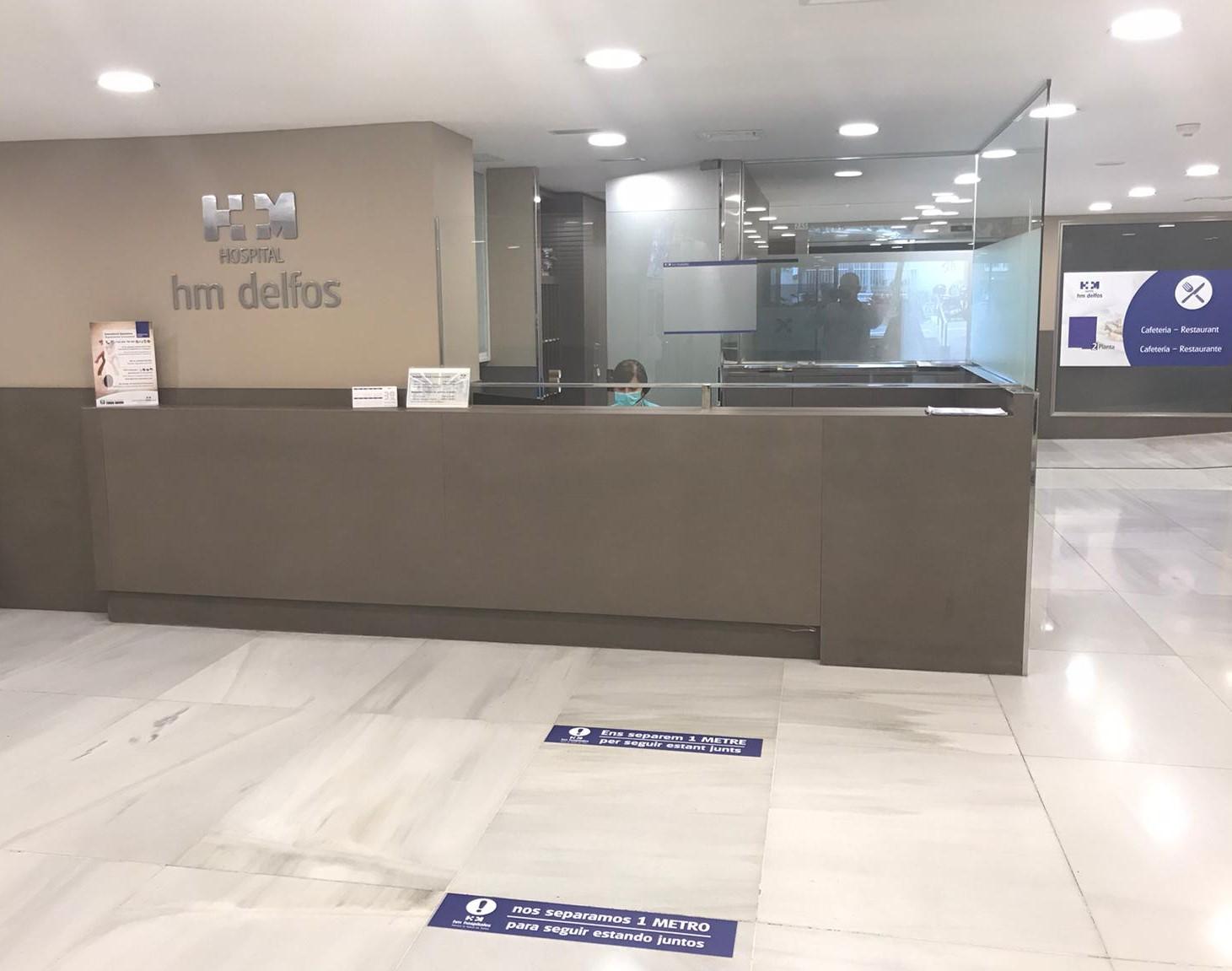 Imatge recepció hospital HM Delfos