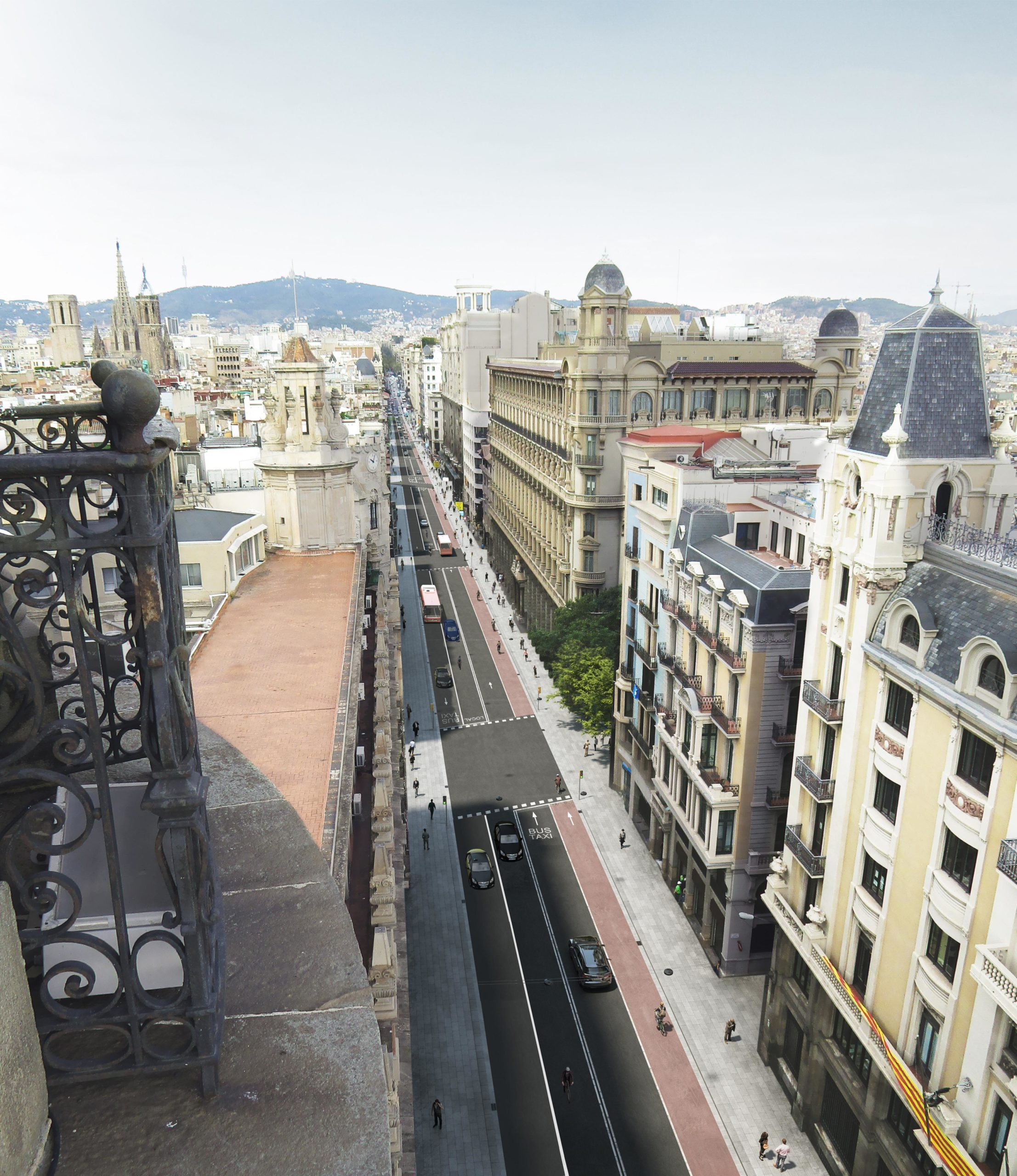 Recreació virtual de la segona proposta de reforma de Via Laietana / Ajuntament de Barcelona
