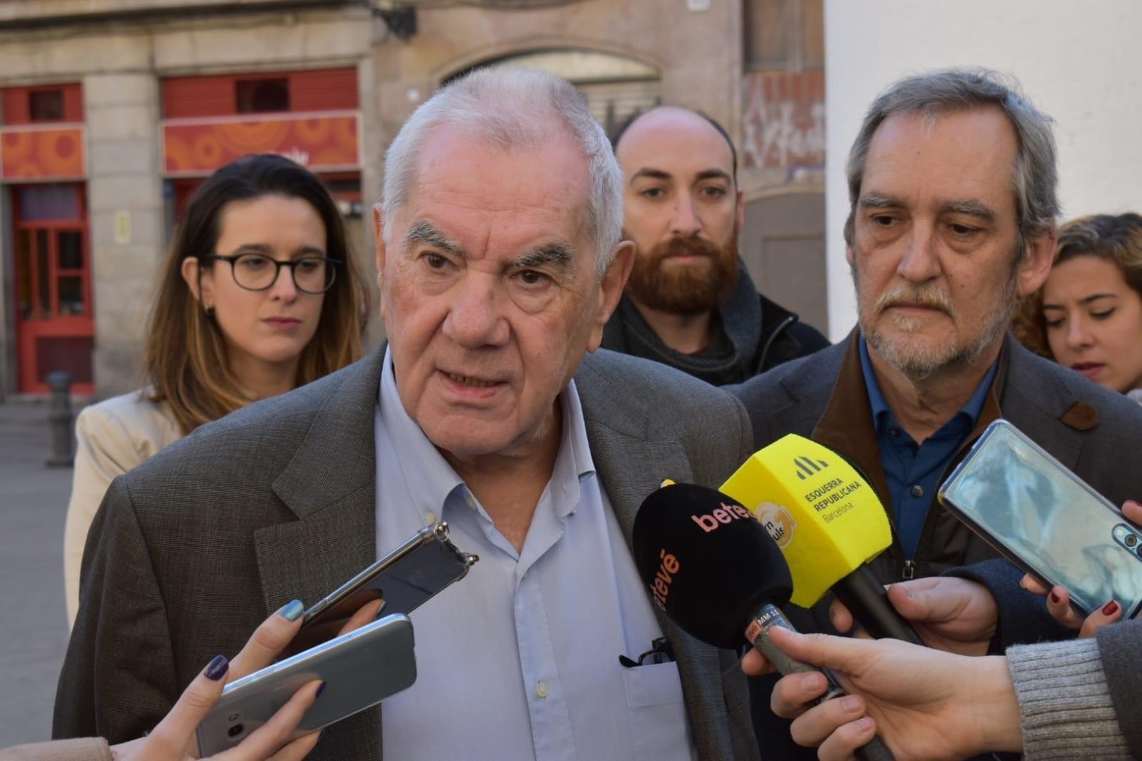 El president del grup municipal d'ERC, Ernest Maragall, i el portaveu, Jordi Coronas, en una imatge d'arxiu / Europa Press