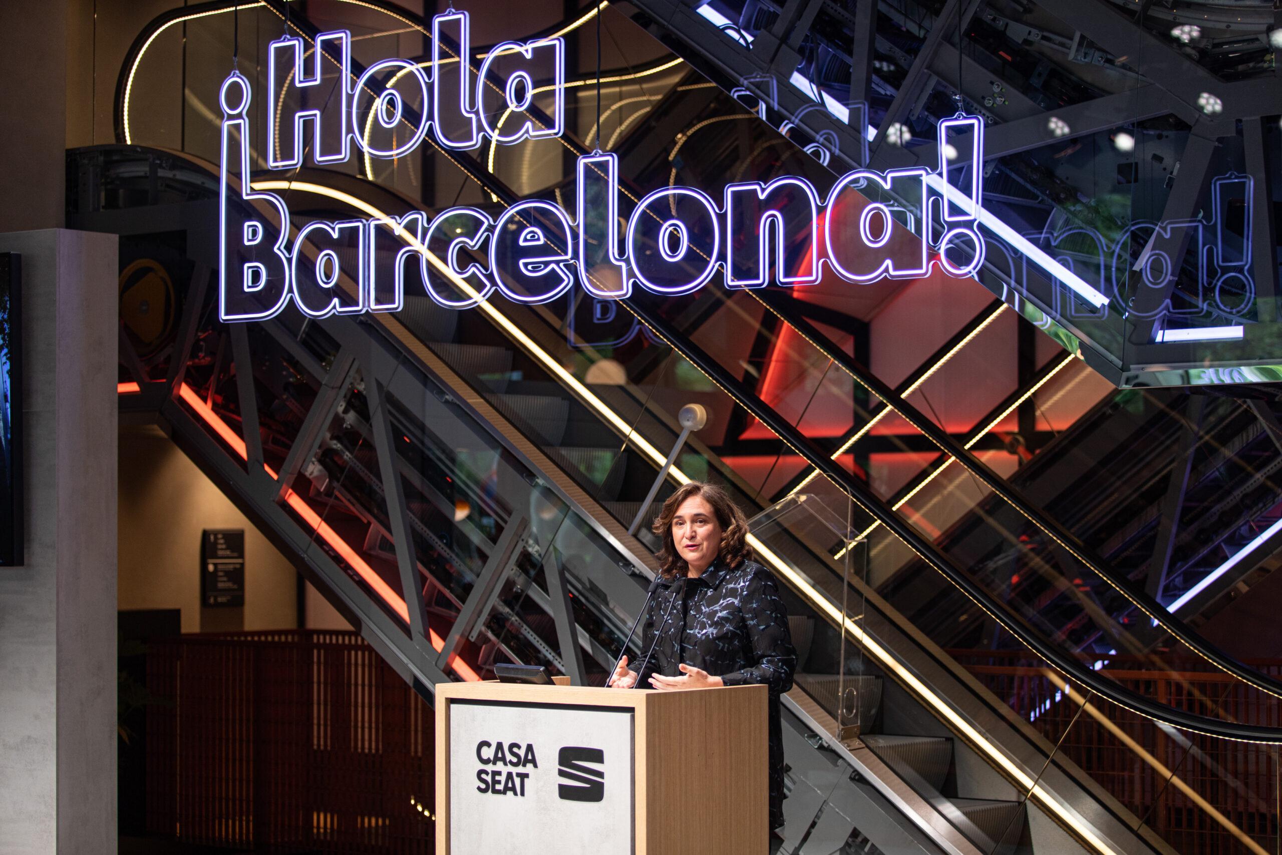 Ada Colau en la presentació de la Casa Seat / Europa Press