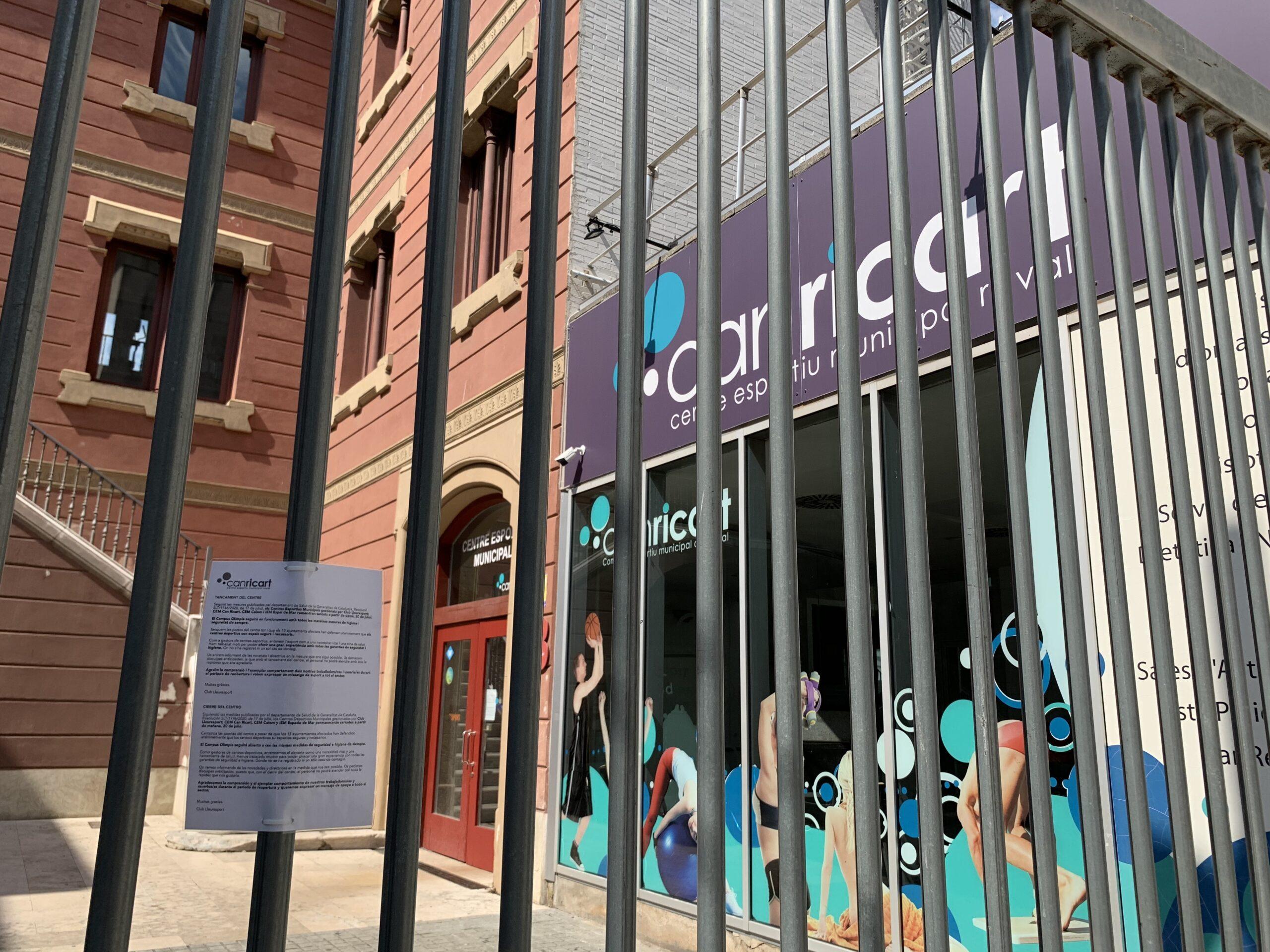 El Centre Esportiu Municipal Can Ricart, al Raval, tancat aquest dilluns / S.B.