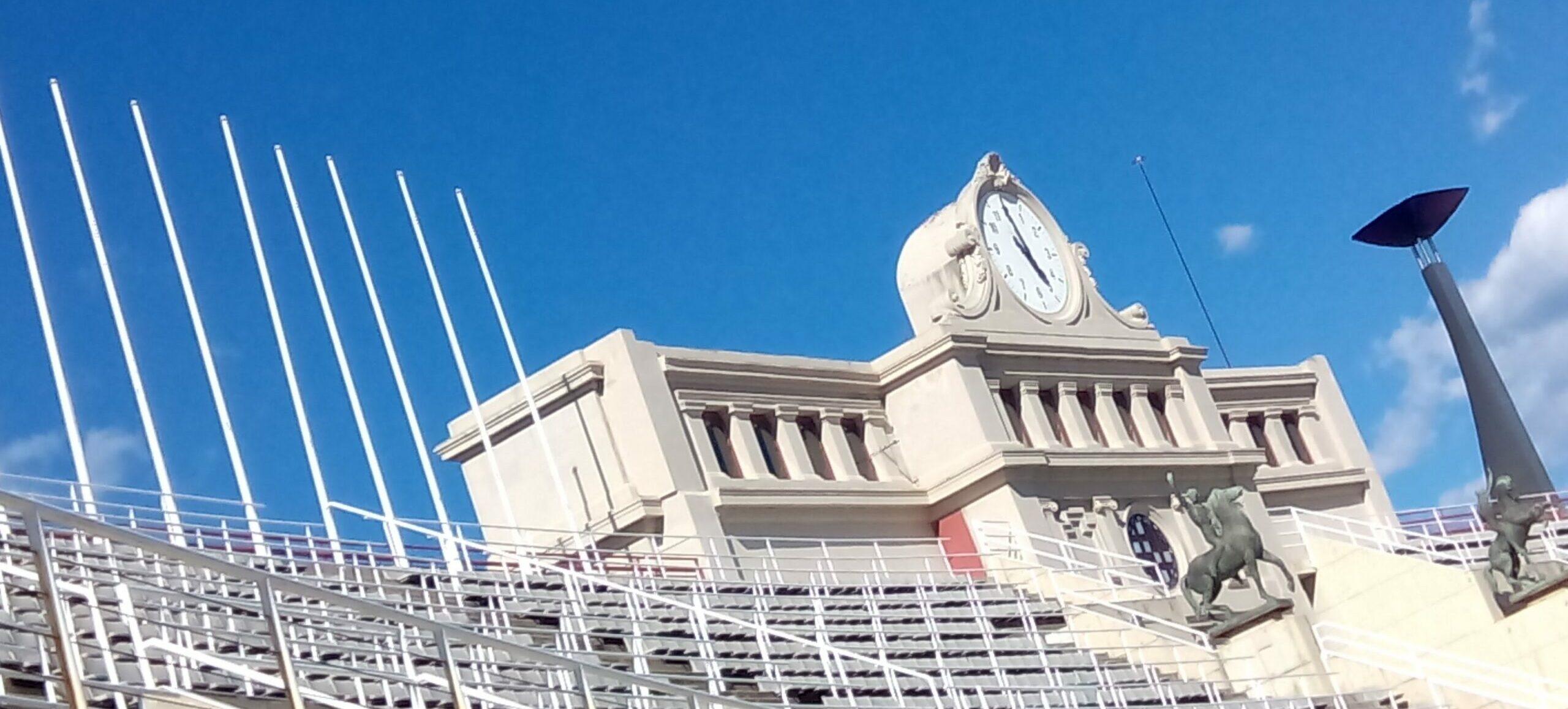 Rellotge de l'estadi olímpic Lluís Companys, en una imatge d'arxiu / MMP