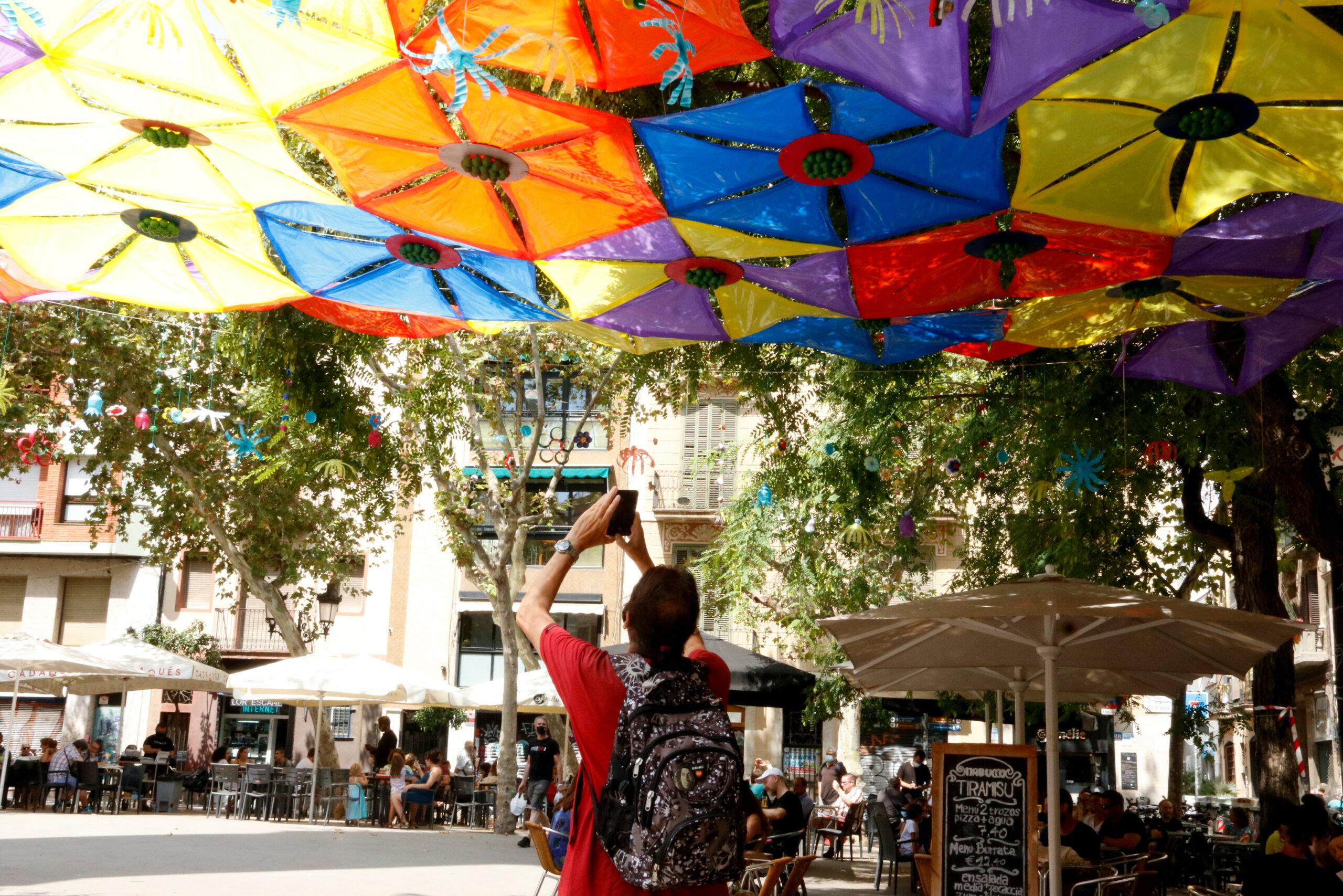 Guarnit a la plaça de la Vila, un dels pocs de les festes de 2020 / ACN