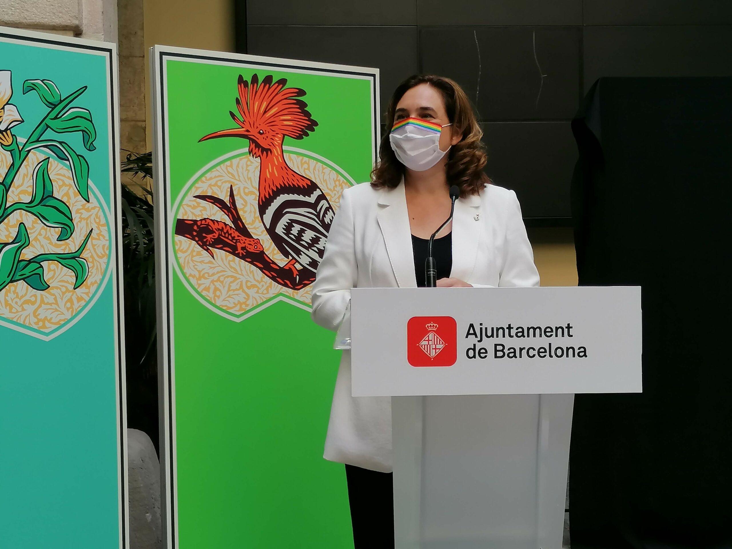 L'alcaldessa Ada Colau durant la presentació de la Mercè 2020 / MMP