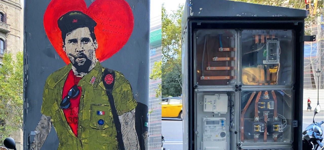 L'artista urbà TVBoy ha denunciat el robatori del seu grafiti sobre Messi / TVBoy
