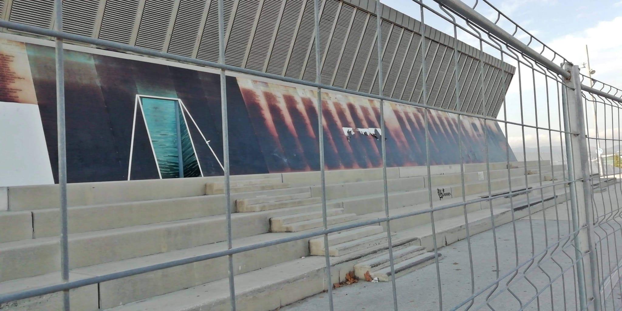 El memorial del Camp de la Bota, malmès / Cedida