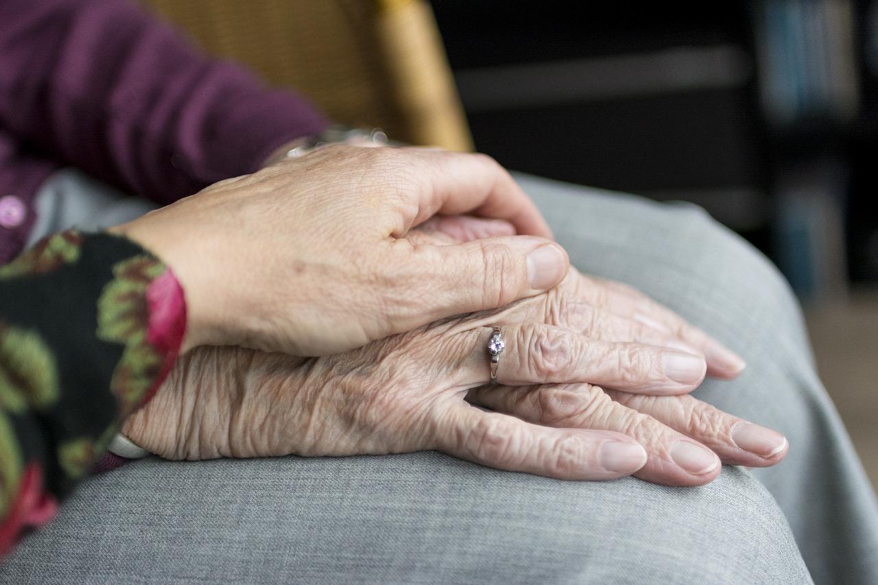 Una persona cuidant una dona gran, en imatge d'arxiu / sabinevanerp (Pixabay)