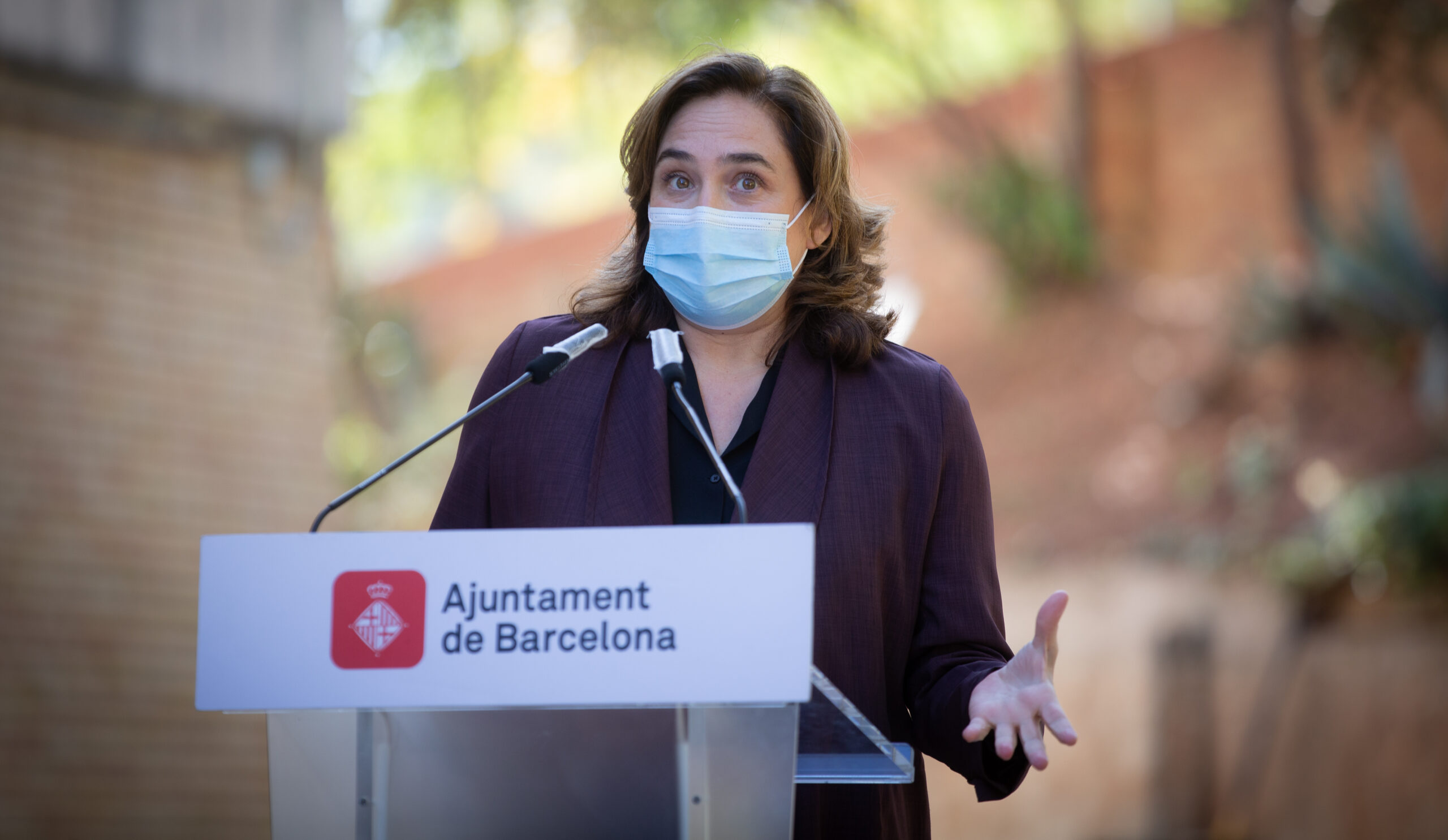 L'alcaldessa Ada Colau, en roda de premsa / David Zorrakino (Europa Press)