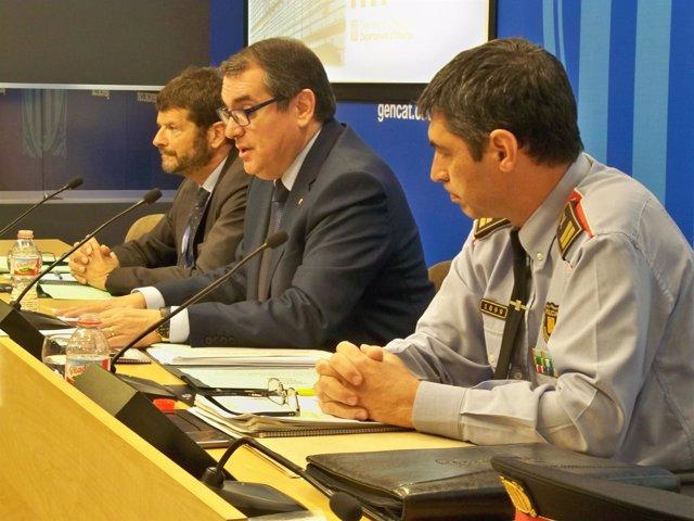 Albert Batlle i Josep Lluís Trapero en una compareixença conjunta / Europa Press