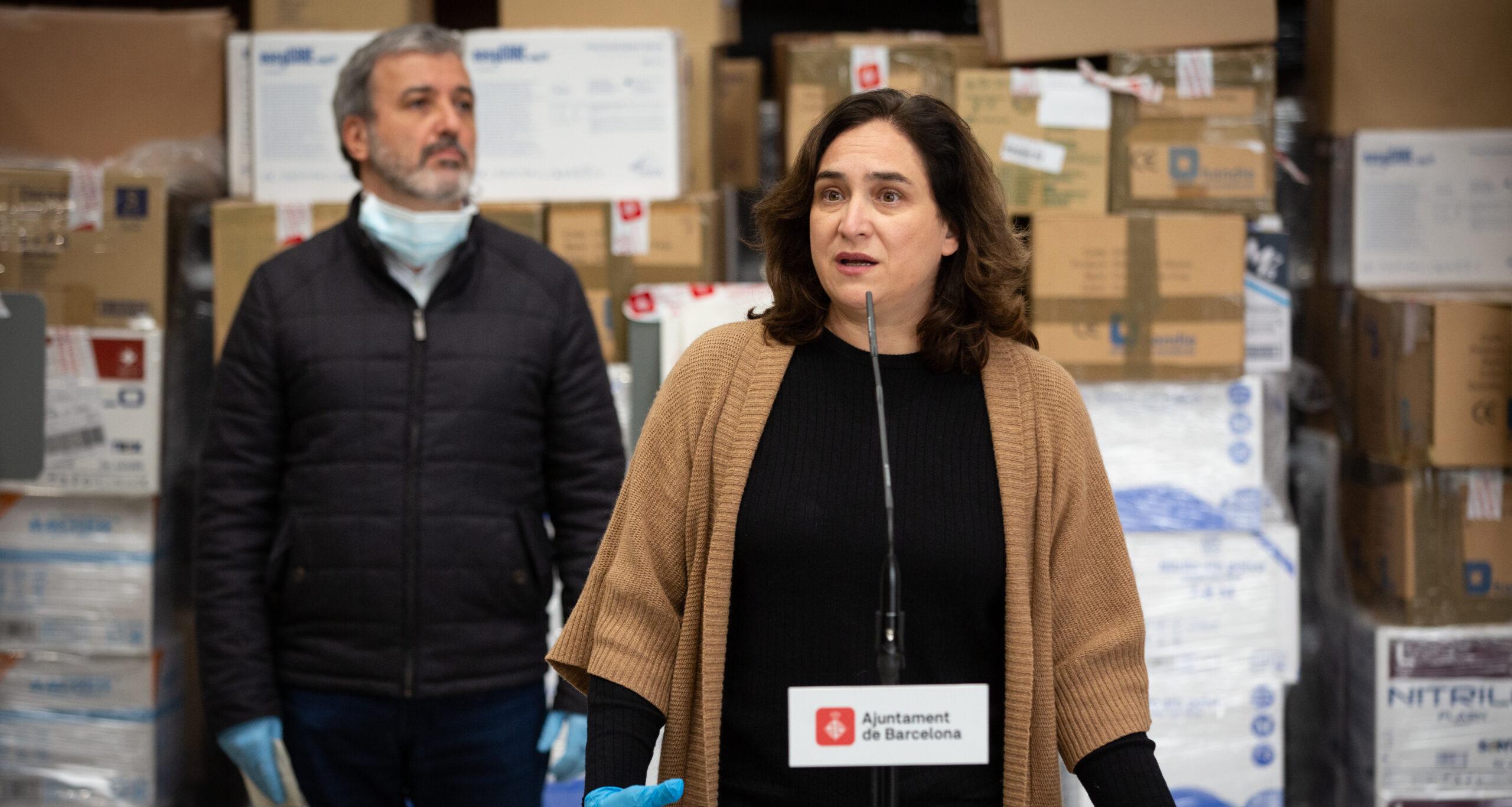 L'alcaldessa Ada Colau i el primer tinent d'alcaldia Jaume Collboni, en imatge d'arxiu / David Zorrakino (Europa Press)