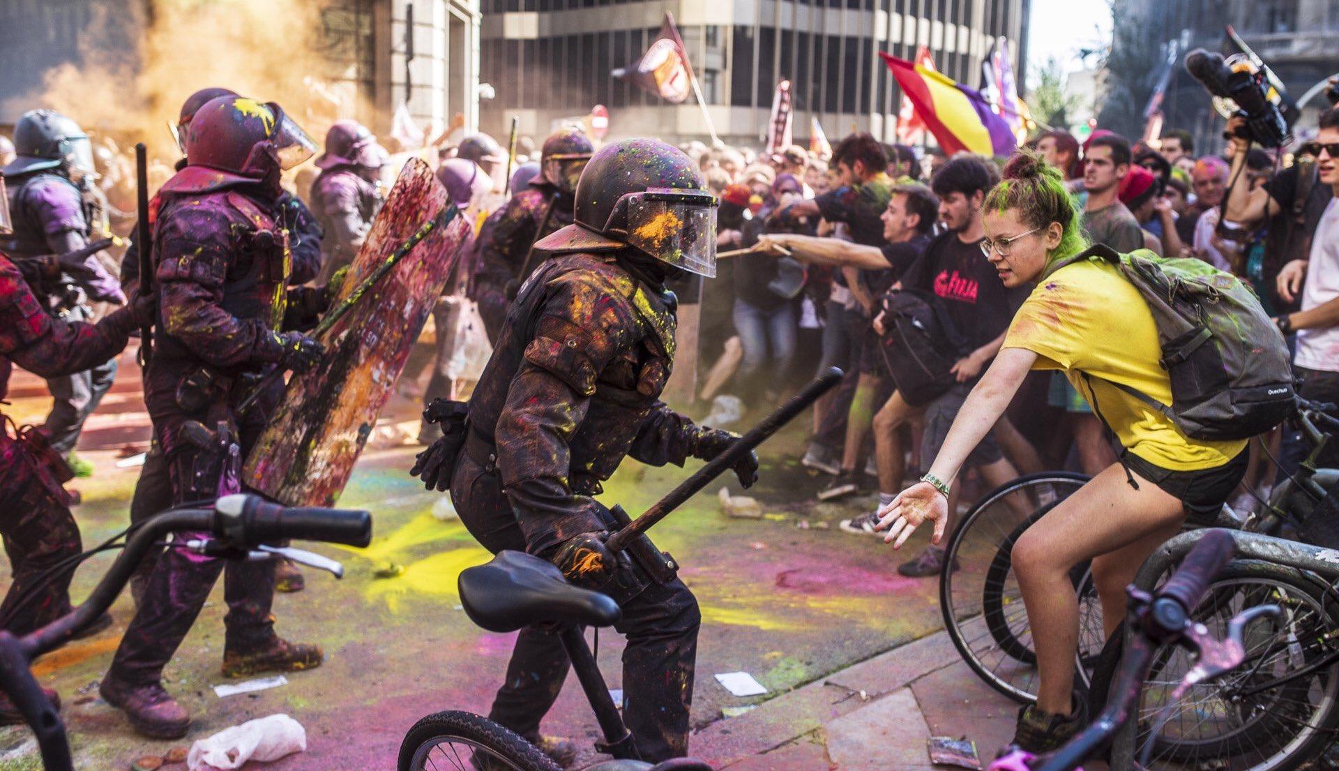 Protesta independentista contra Jusapol, el setembre de 2018 / Jordi Borràs