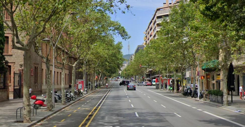El tram superior del carrer Urgell perdrà un carril de trànsit / Google Street View