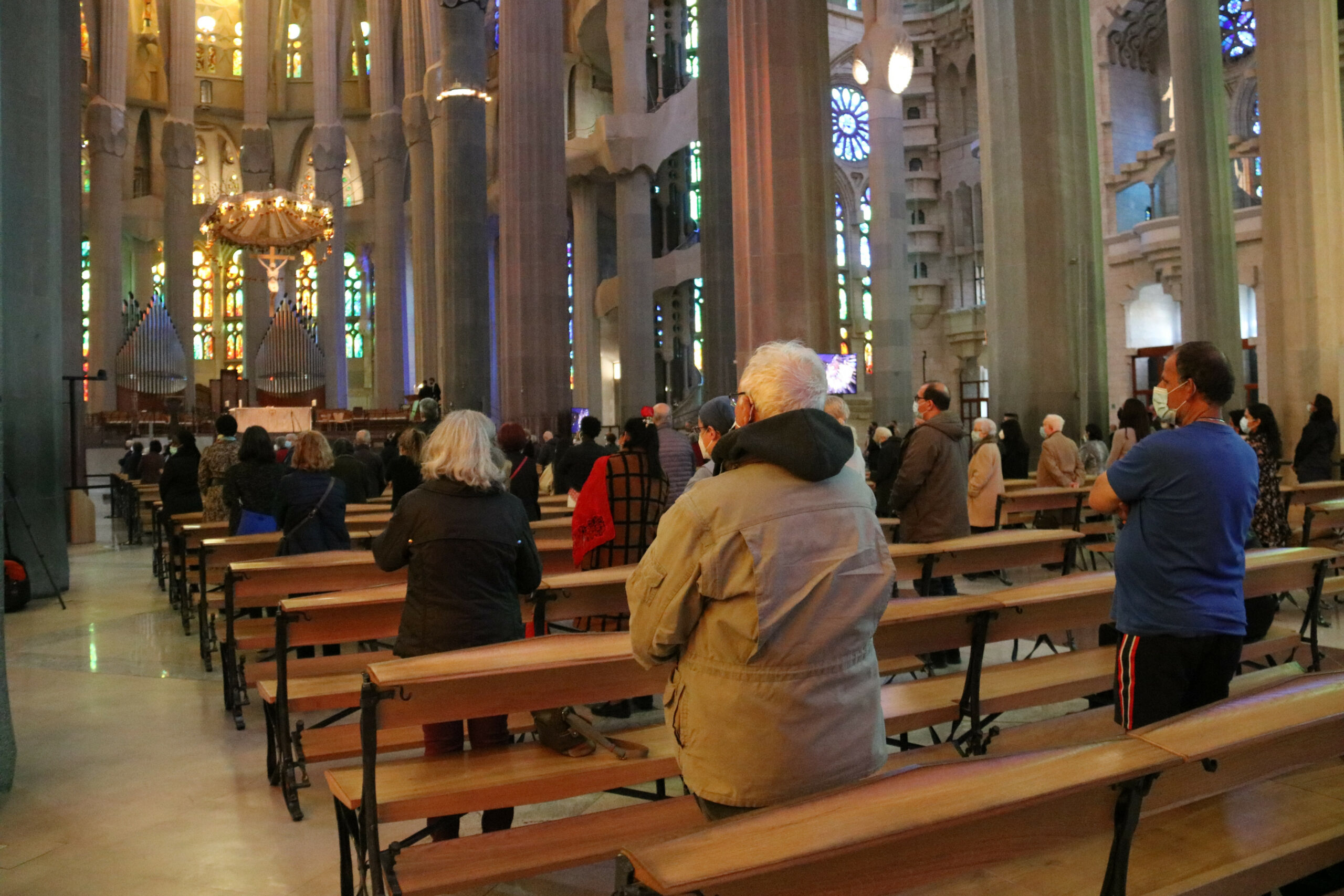 La vetlla de Pasqua celebrada a la Sagrada Família / ACN