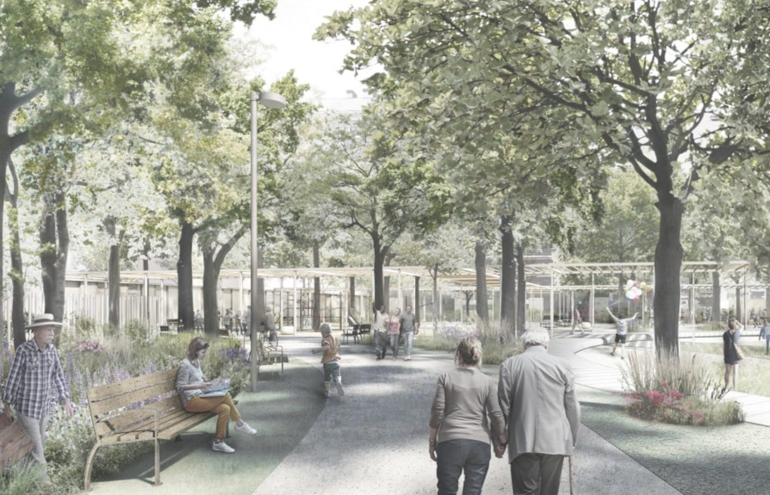 Dibuix del futur parc de Colònia Castells de Barcelona / Ajuntament de Barcelona