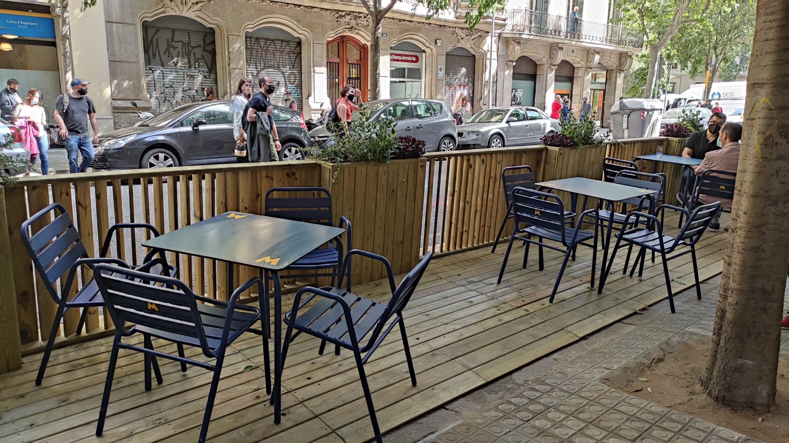Un dels nous prototips de terrasses al carrer / Europa Press