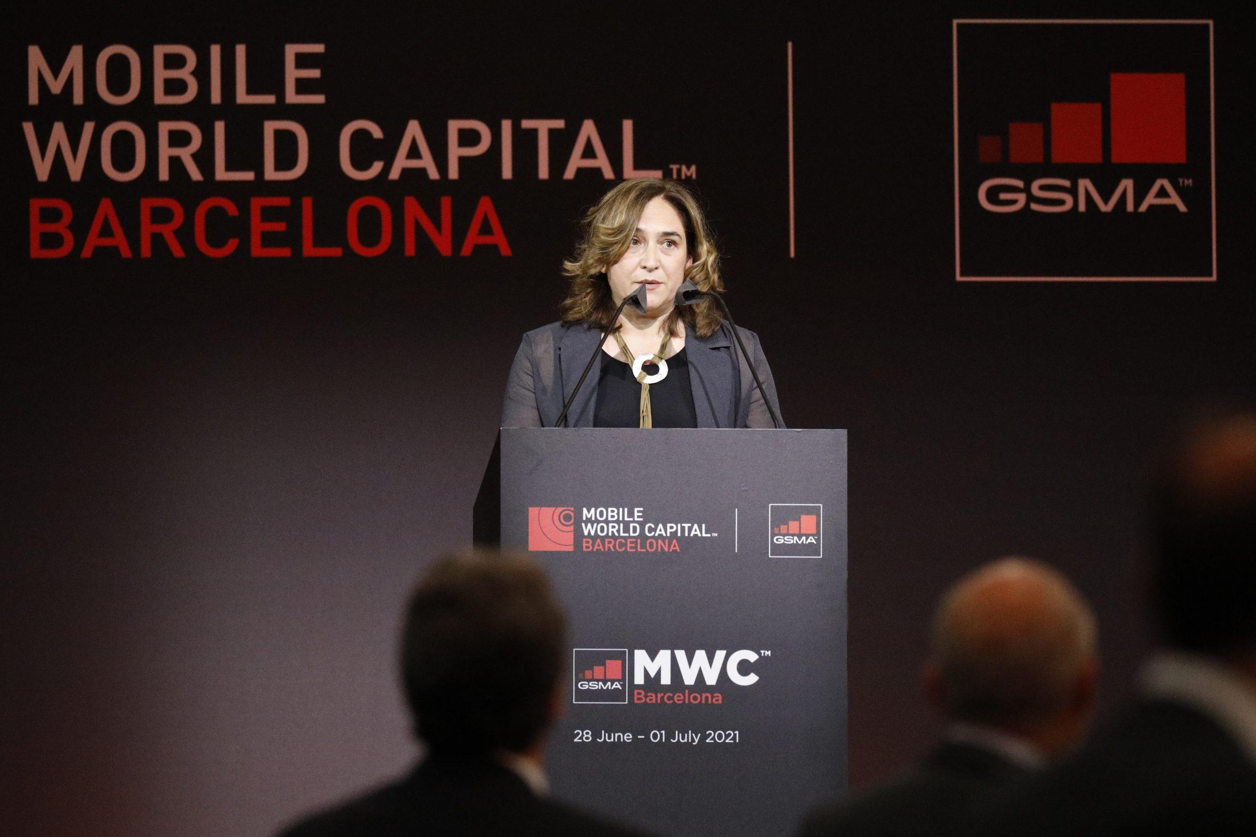 Colau, a l'acte de benvinguda del Mobile / Europa Press