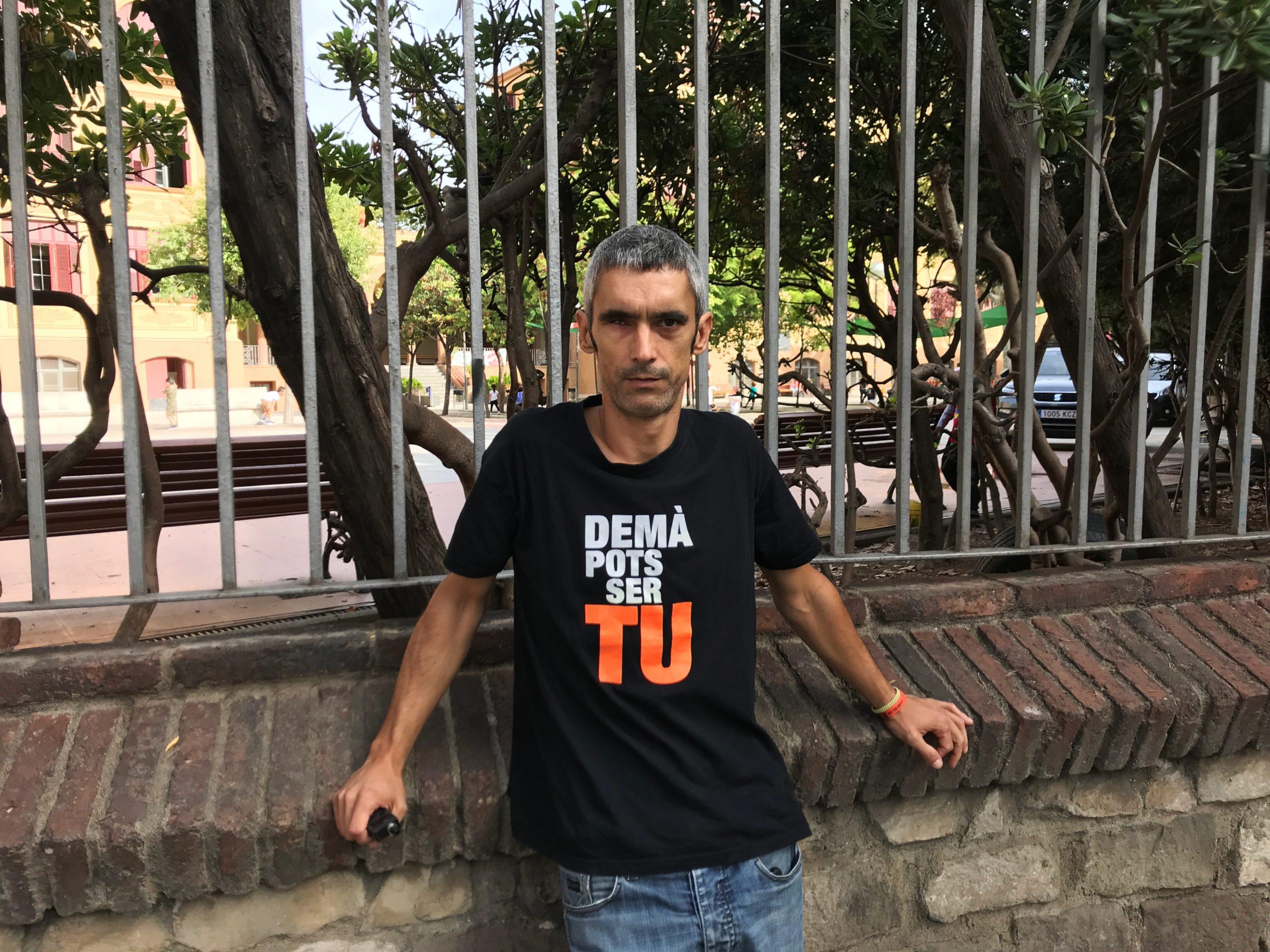 L'activista ferit de l'ull Roger Español, en imatge d'arxiu / Alan Ruiz (ACN)