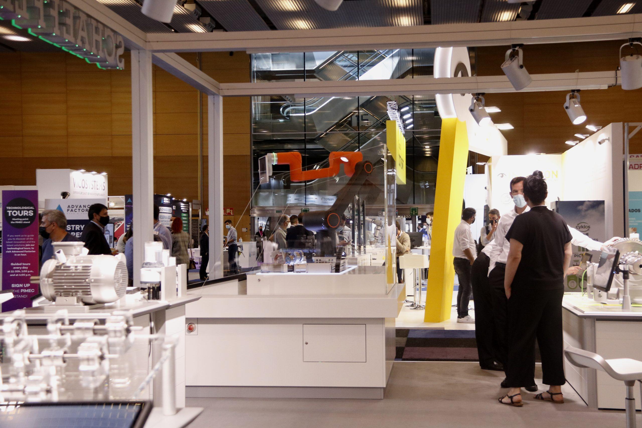 Estand de l'Advanced Factories, al Centre de Convencions Internacional / Aina Martí / ACN