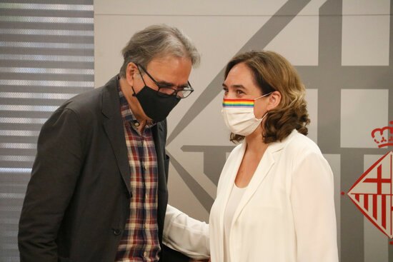 Joan Subirats i Ada Colau / Blanca Blay / ACN
